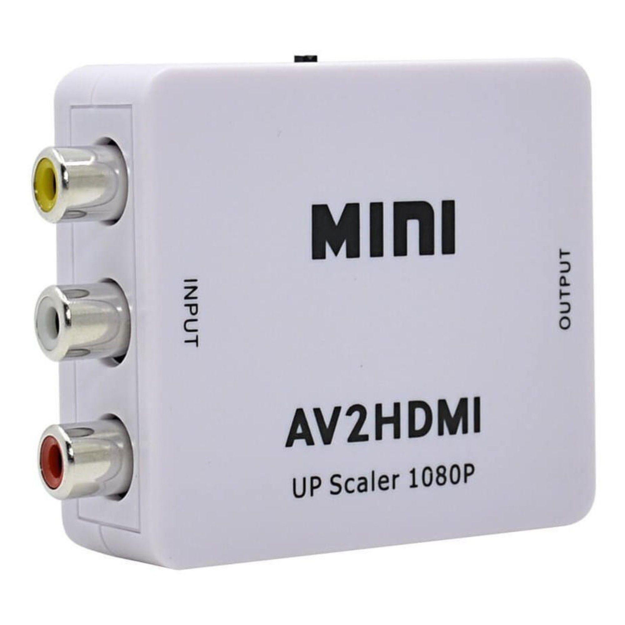 Conversor AV P/ HDMI 1080p Full HD AV2HDMI