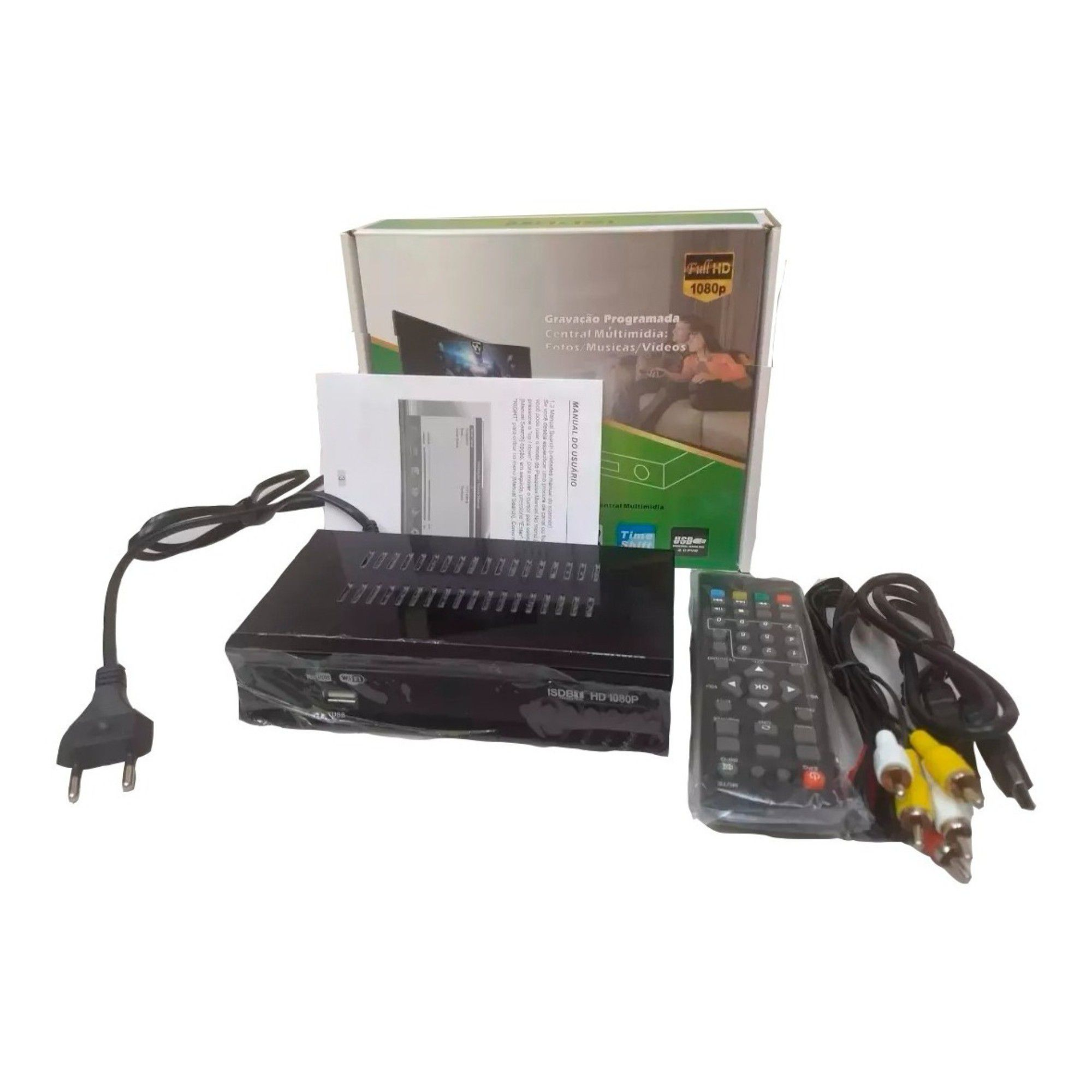 Conversor Tv Sinal Digital ISDB-T Set Top Box Full HD HDMI
