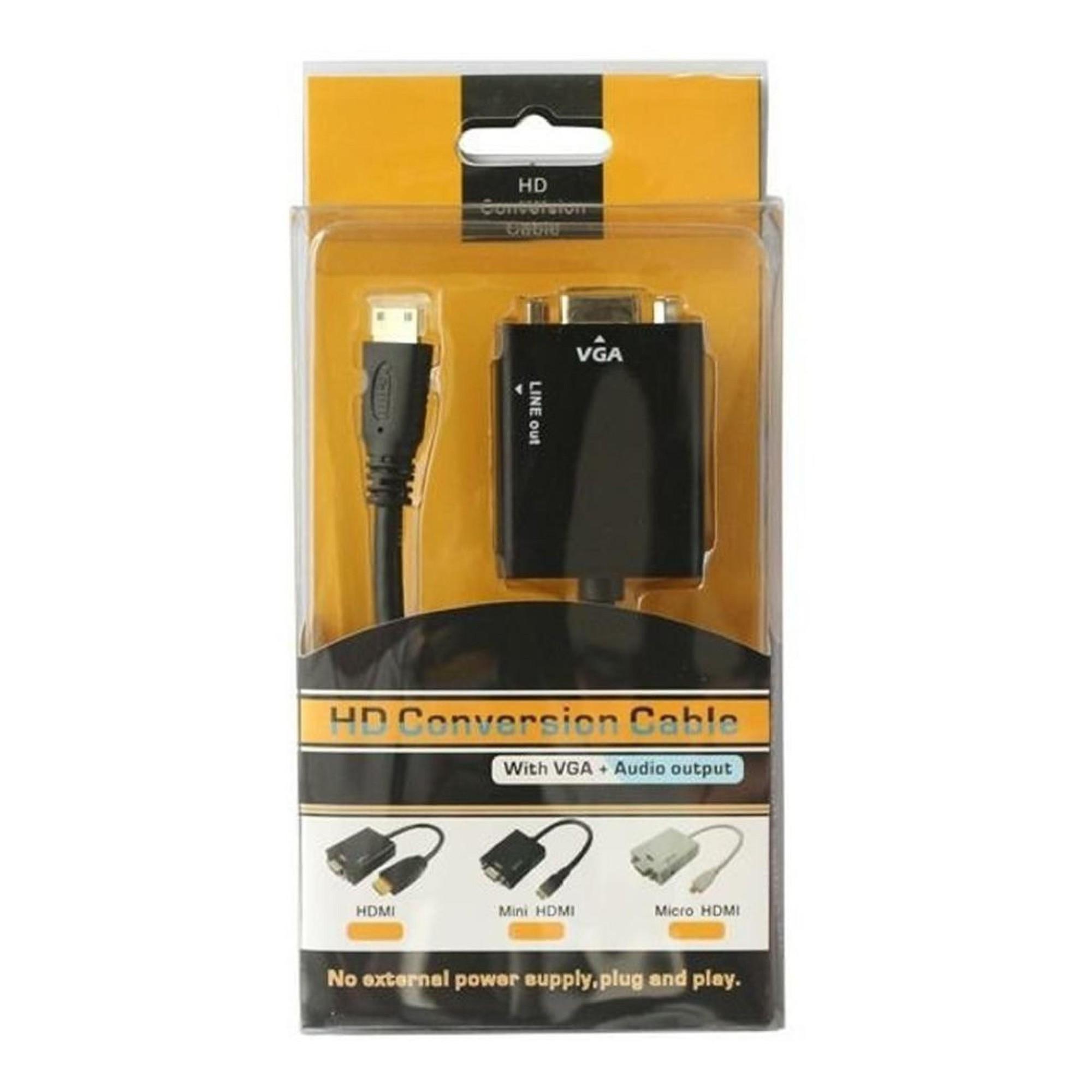 Conversor HDMI P/ VGA 1080p Full HD HDMI2VGA