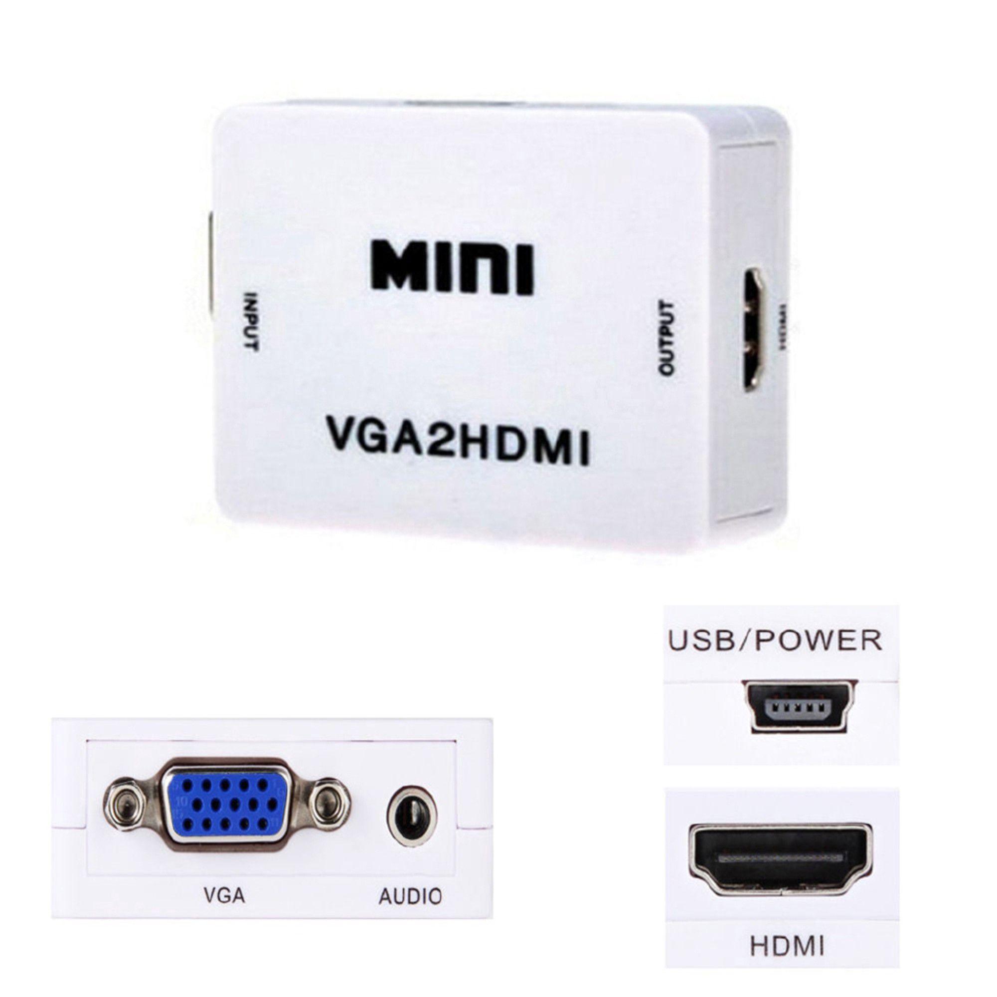 Conversor VGA X HDMI 1080p Full HD VGA2HDMI