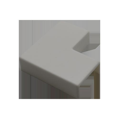 Cotovelo P/ Canaleta 20x10mm Sistema X 90° Branco C/ 10 Unidades
