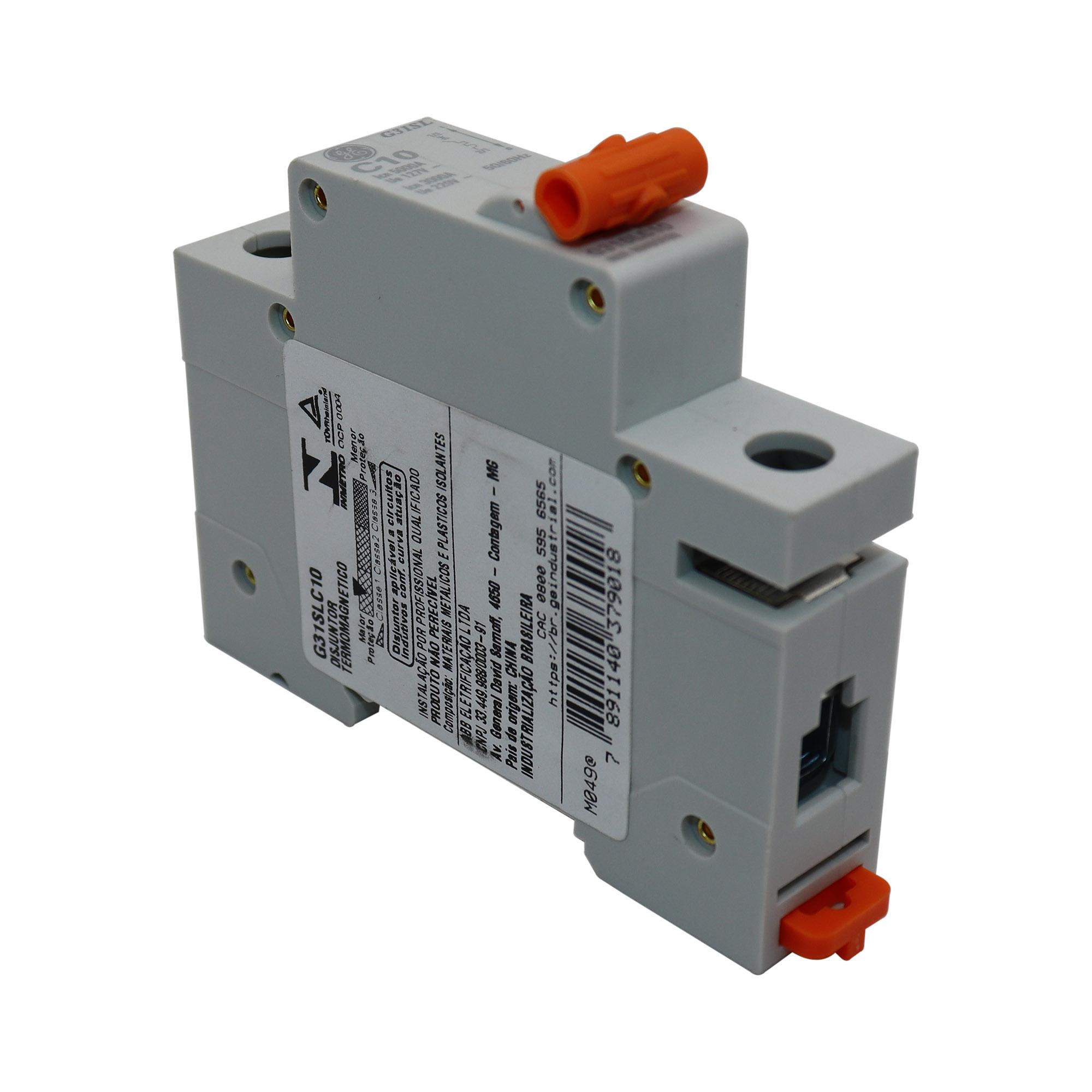Disjuntor Termomagnético Unipolar General Eletric G31SLC10C
