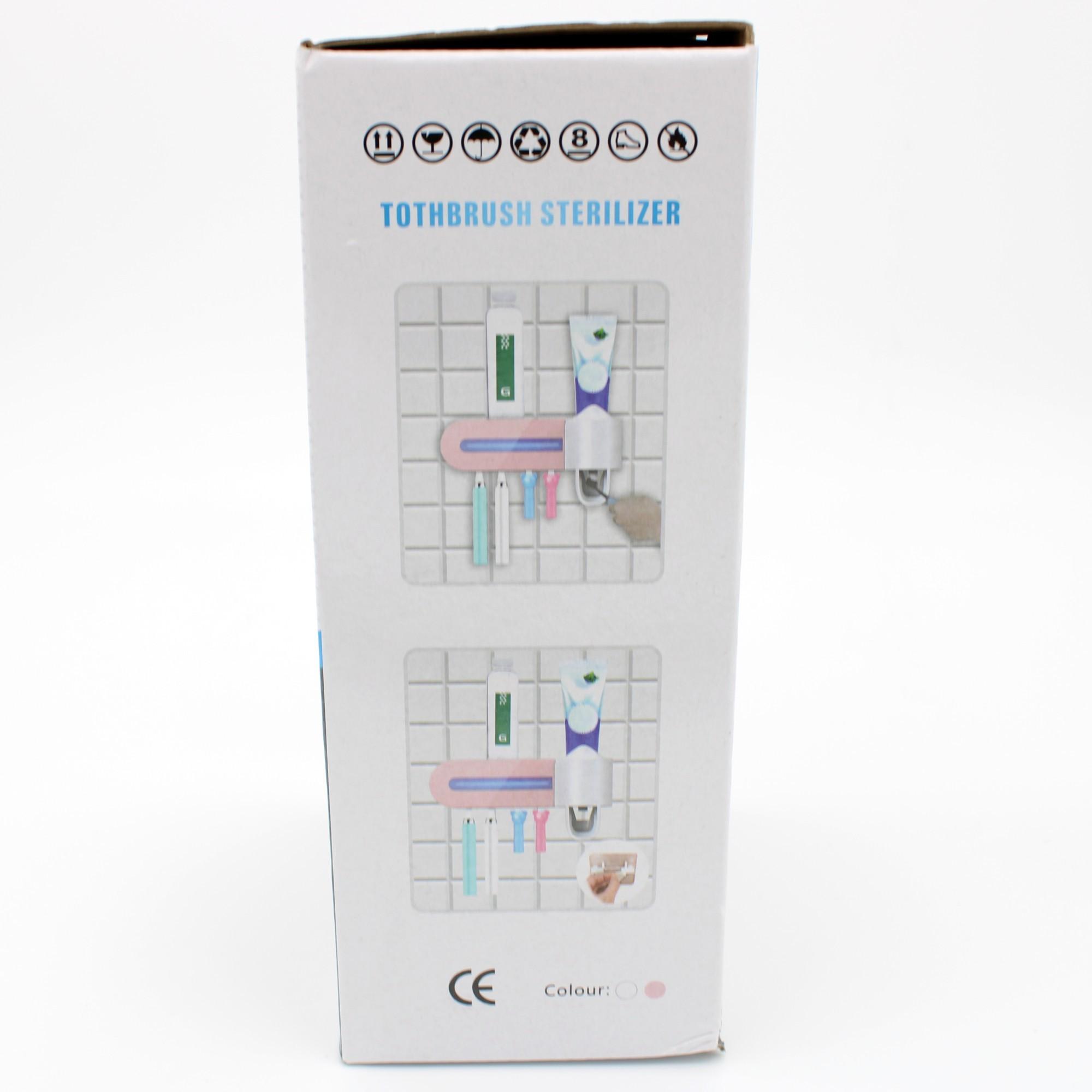 Dispenser De Pasta Dente Esterilizador Uv Automático Com Led