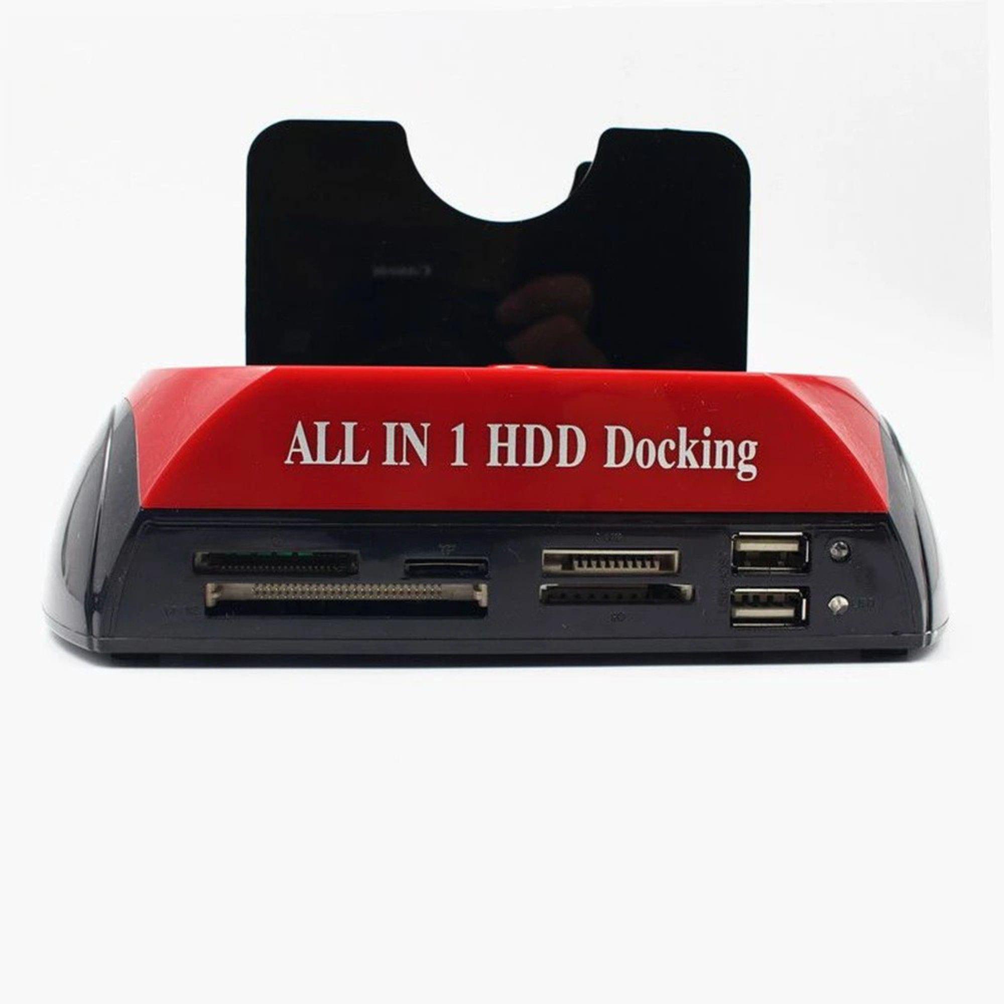 Dock Station Para 2 Hd Sata 2,5 E 3,5 Usb Case Leitor Cartão