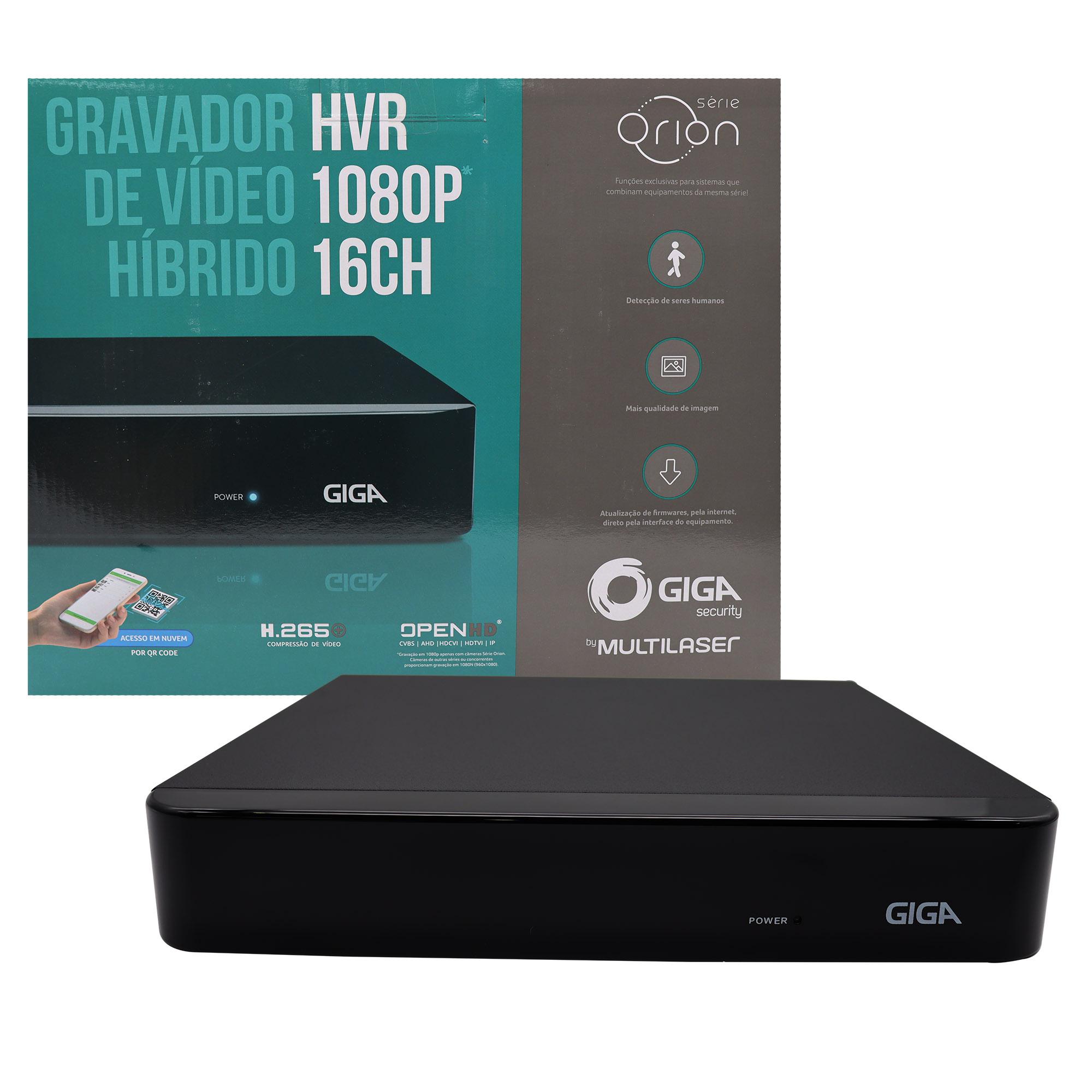 DVR 16 Canais 1080P Orion GS0182 Giga Security