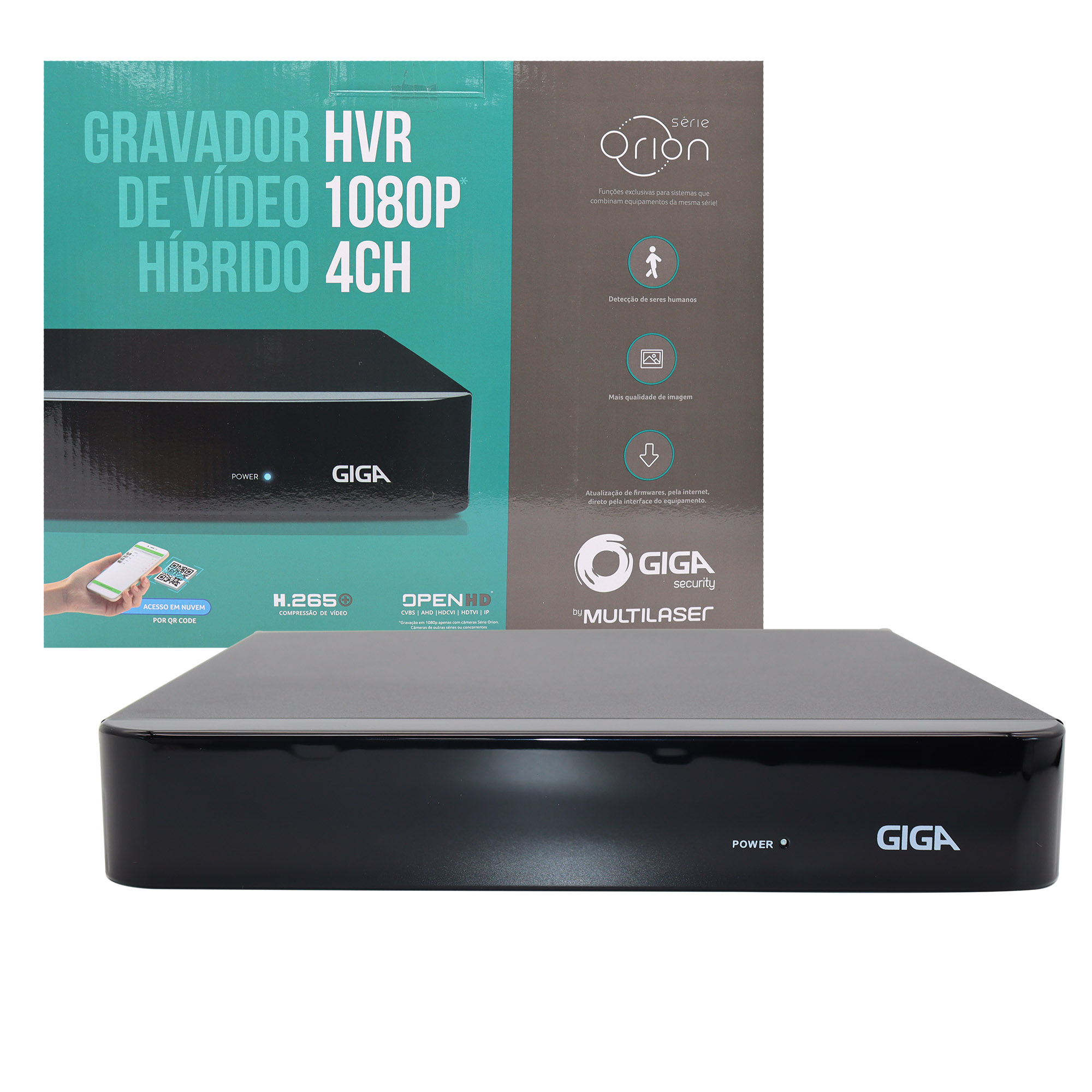 DVR 4 Canais 1080P Orion GS0180 Giga Security