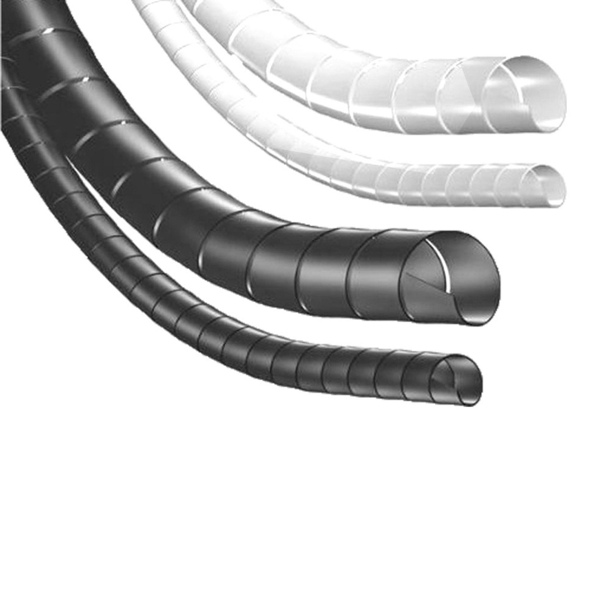 Organizador De Cabos Espiral Spiraduto 1/2 Branco Metro