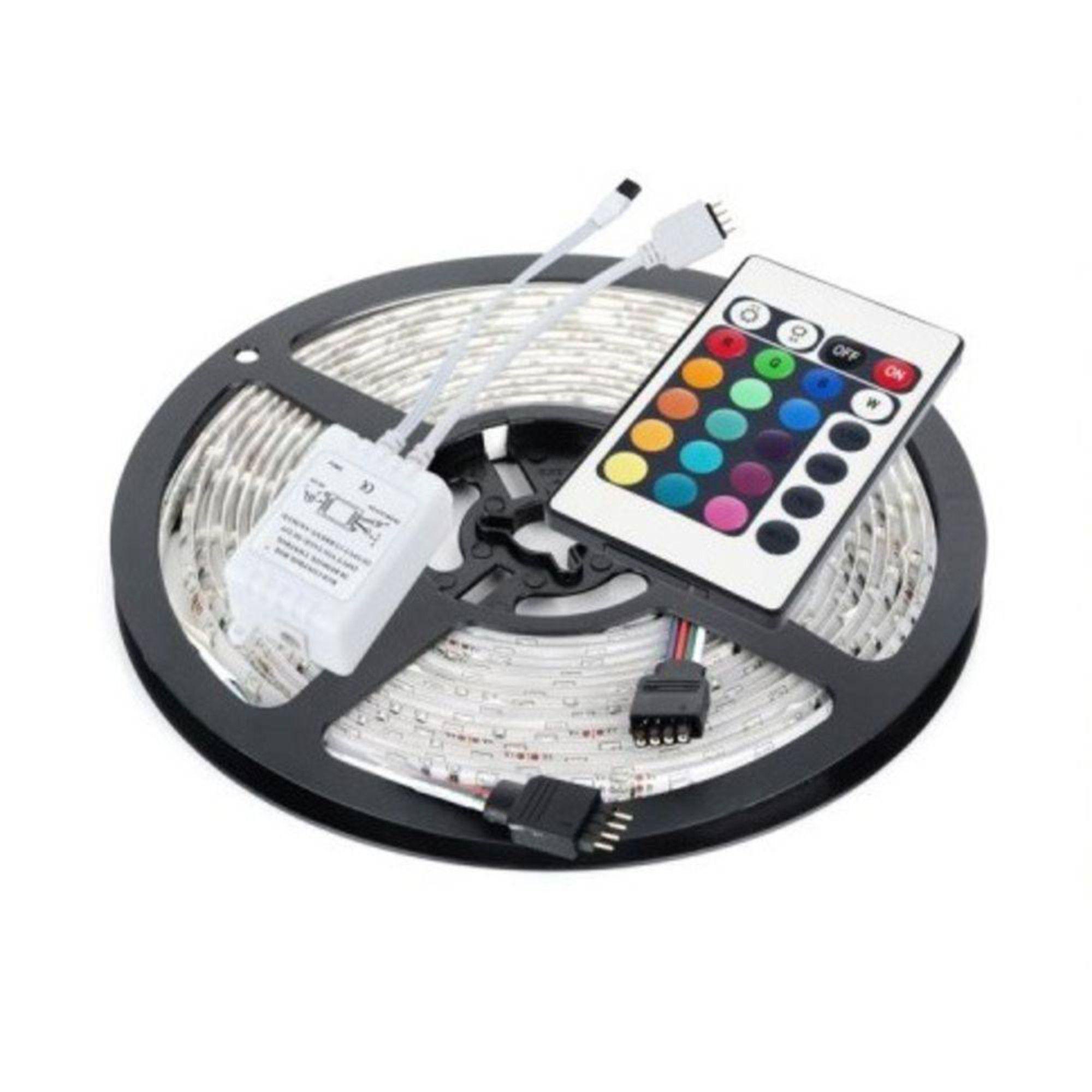 Fita Super Led Digital Rgb C/ Controle Sem Fio Iluminação Colorida C/ Fonte