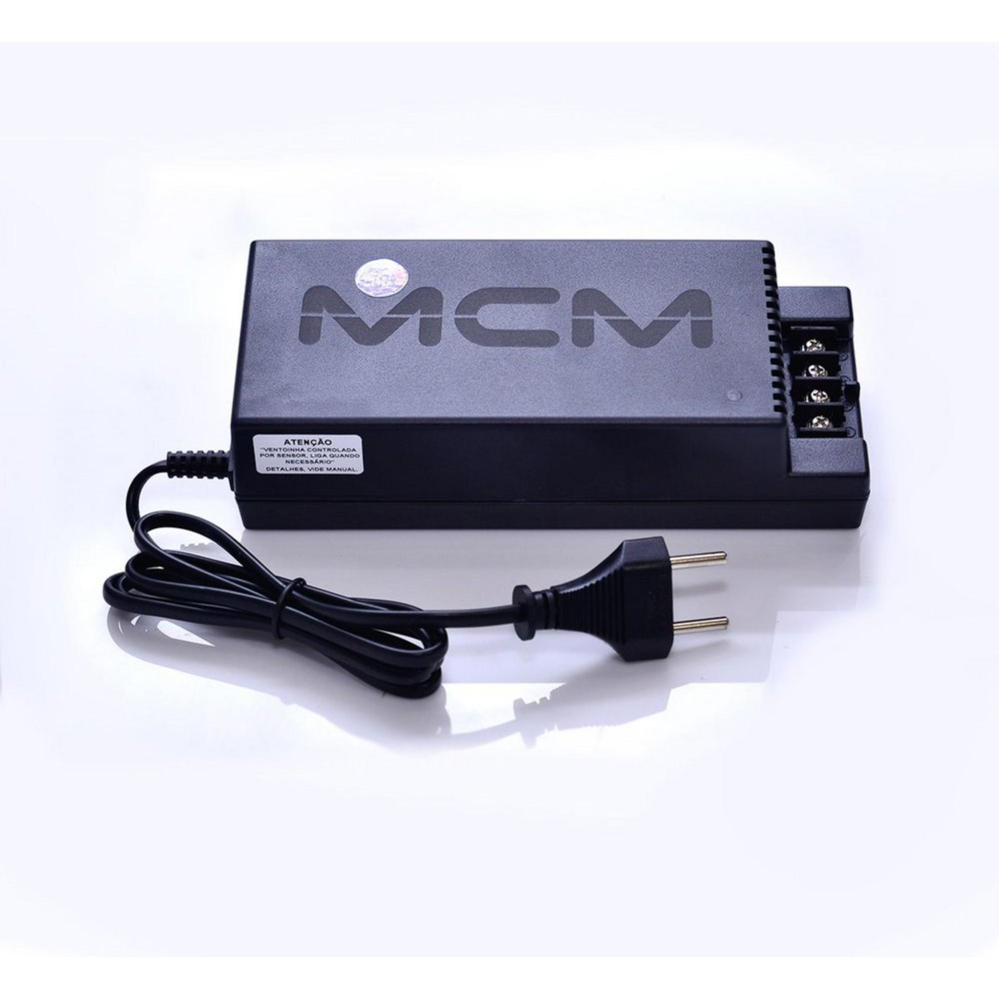 Fonte 12V 10A P/ CFTV Bivolt Smart Meter MCM