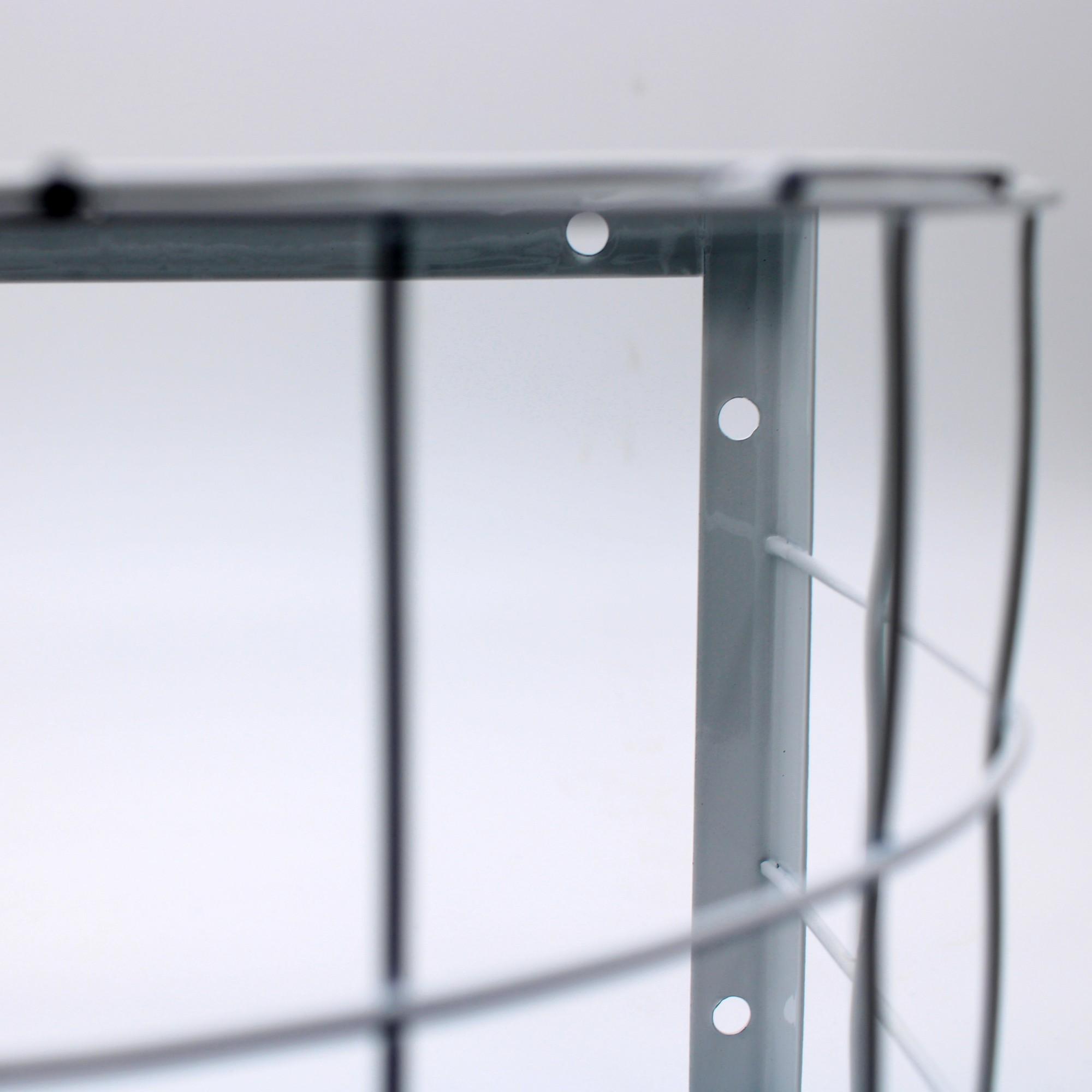 Grade Proteção Formato Oval P/ De Câmera De Segurança Branco