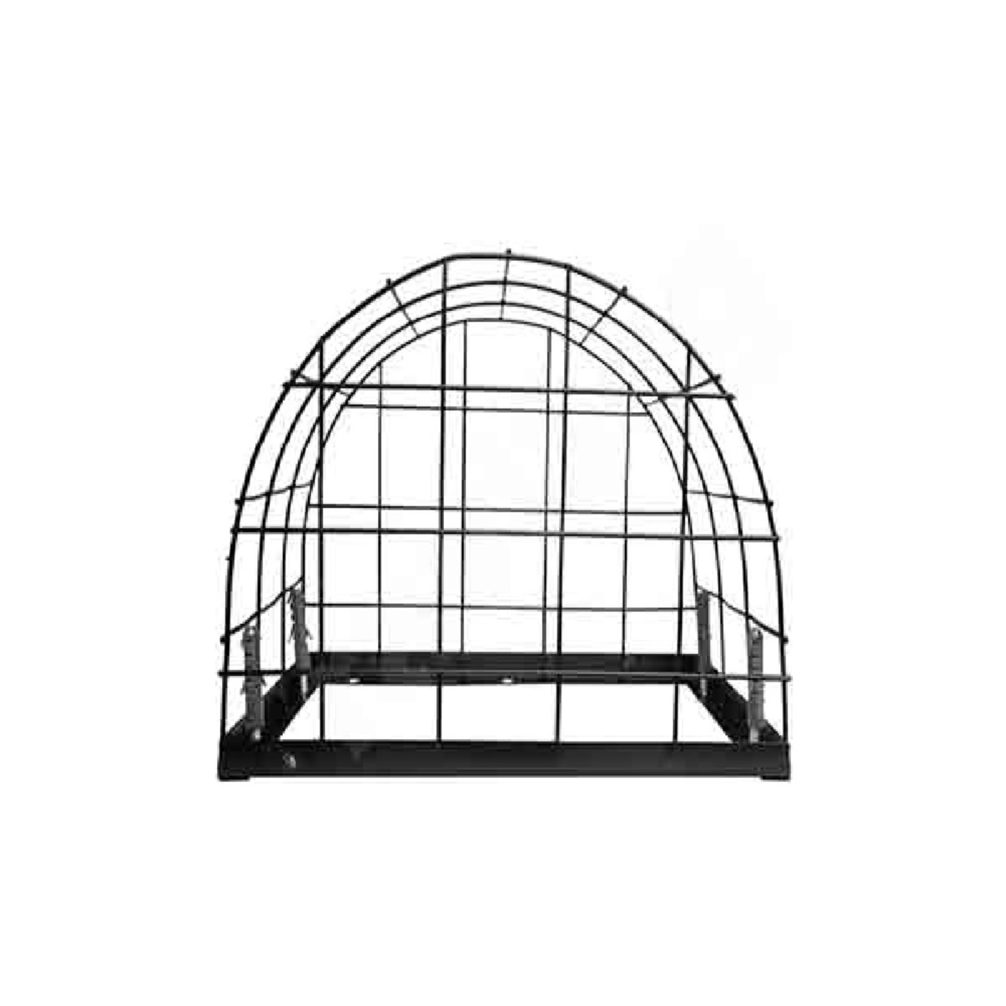 Grade Proteção Formato Oval P/ De Câmera De Segurança Preto
