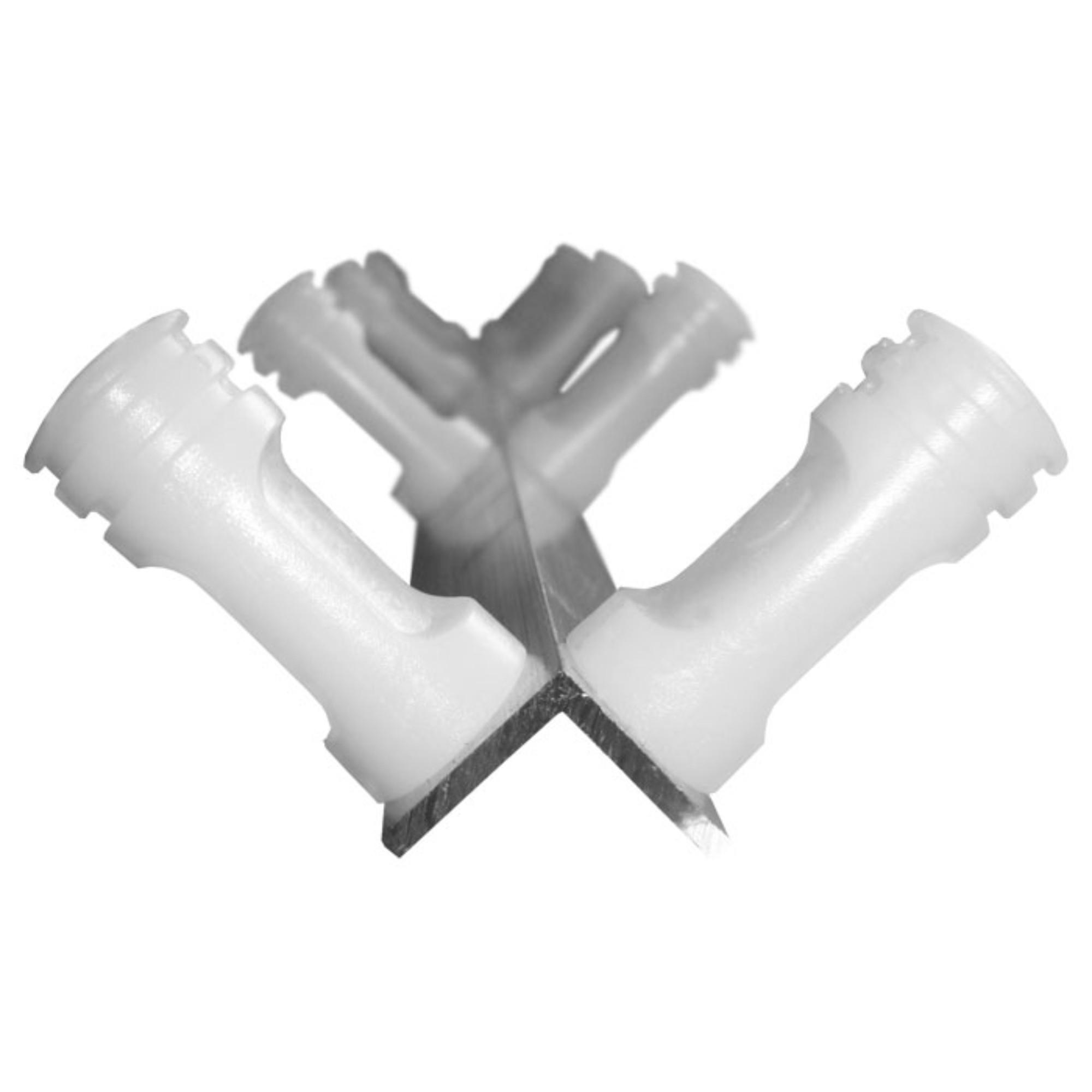 Haste Alumínio Cantoneira 75cm Canto Com 8 Isoladores