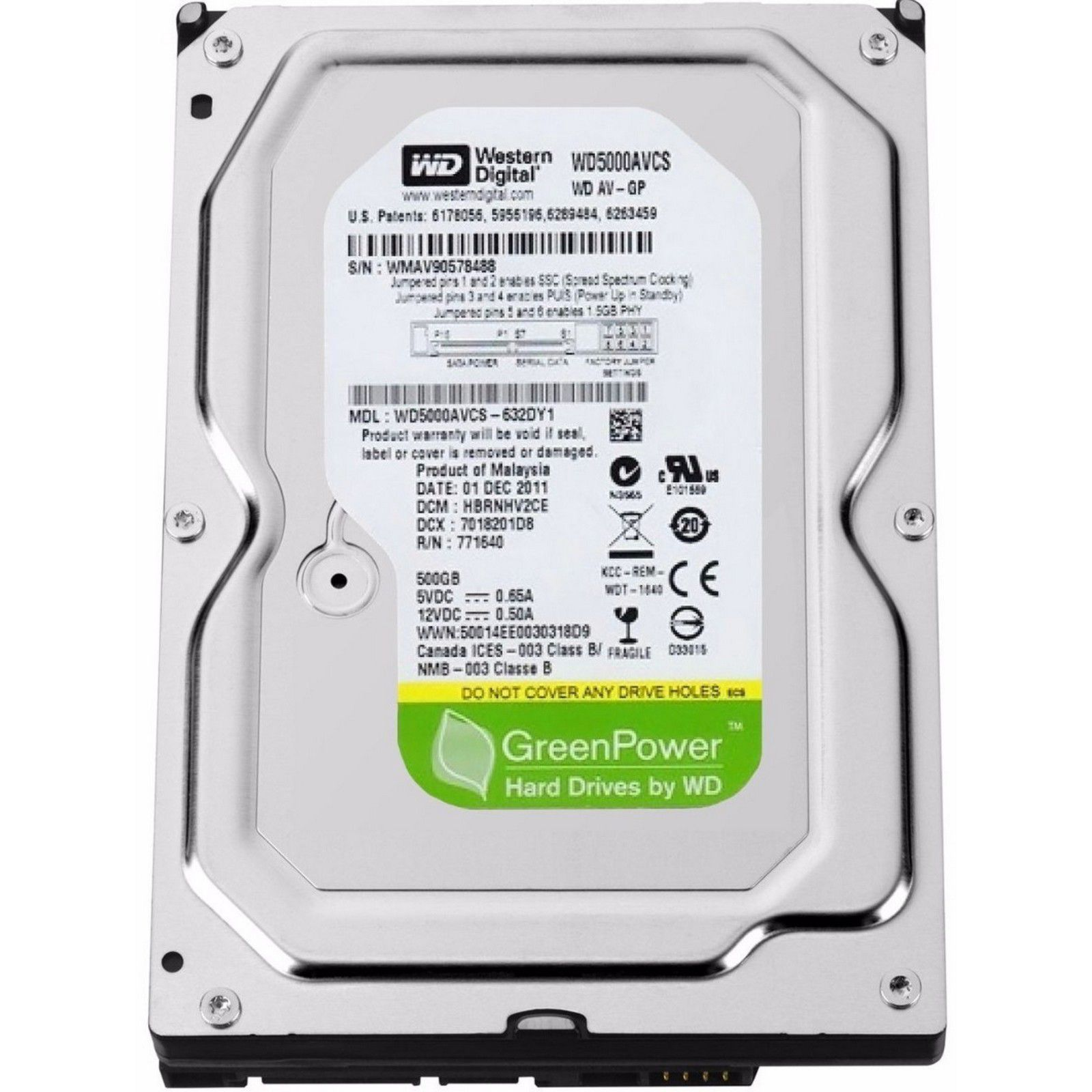 HD 500GB Western Digital