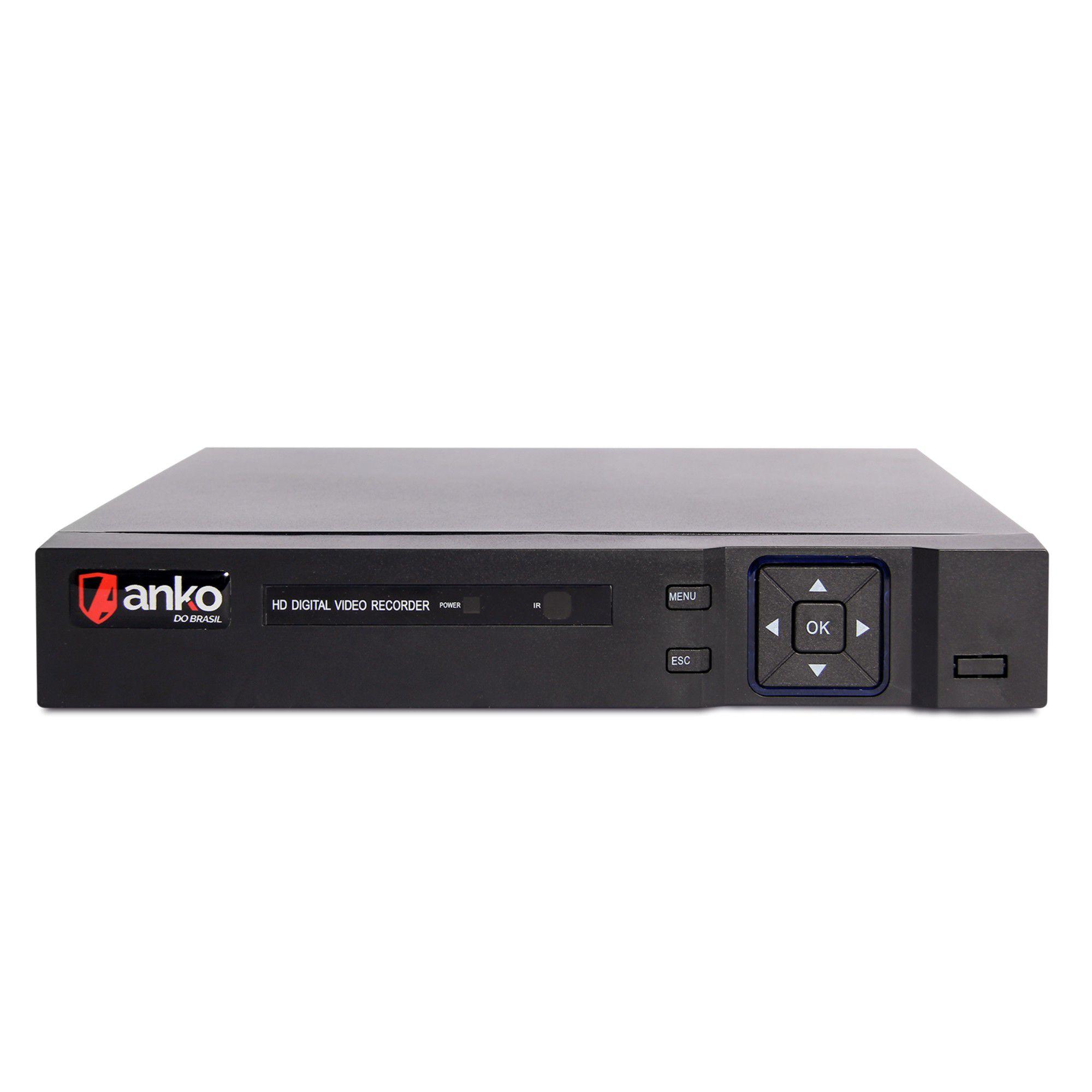 Kit CFTV Anko Completo 4 Câmeras AHD 720p DVR 8 Canais
