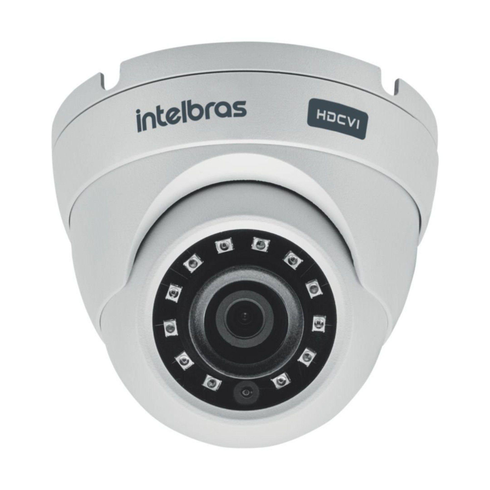 Kit CFTV Intelbras Completo 2 Câmeras AHD 720p DVR 4 Canais