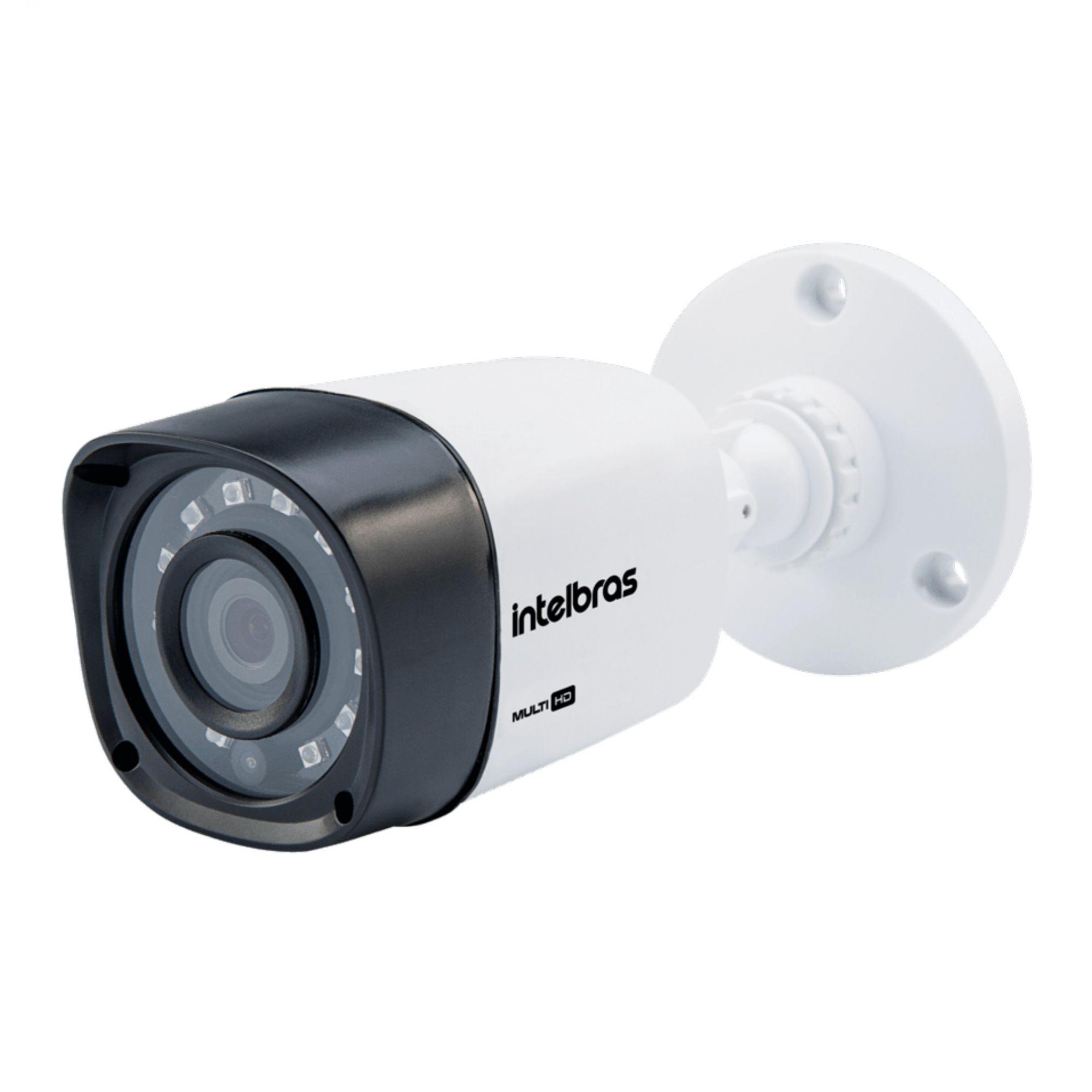 Kit CFTV Intelbras Completo 6 Câmeras AHD 720p DVR 8 Canais
