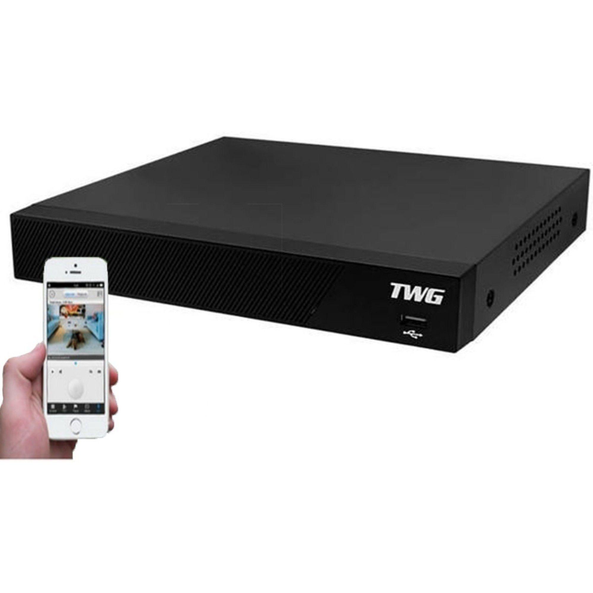 Kit CFTV TWG Completo 6 Câmeras AHD 720p DVR 8 Canais
