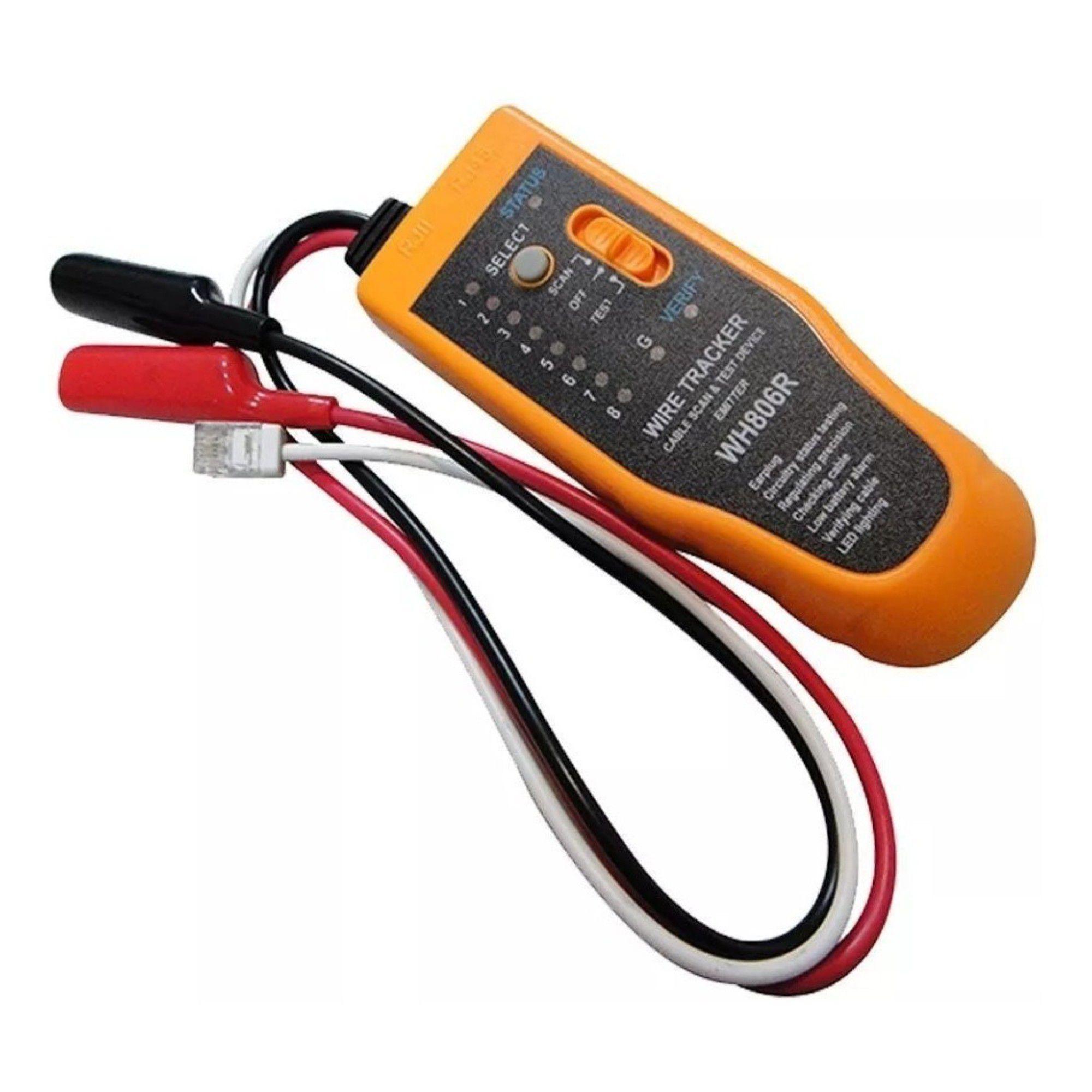 Kit Localizador de Cabos C/ Zumbidor + Testador Lisko