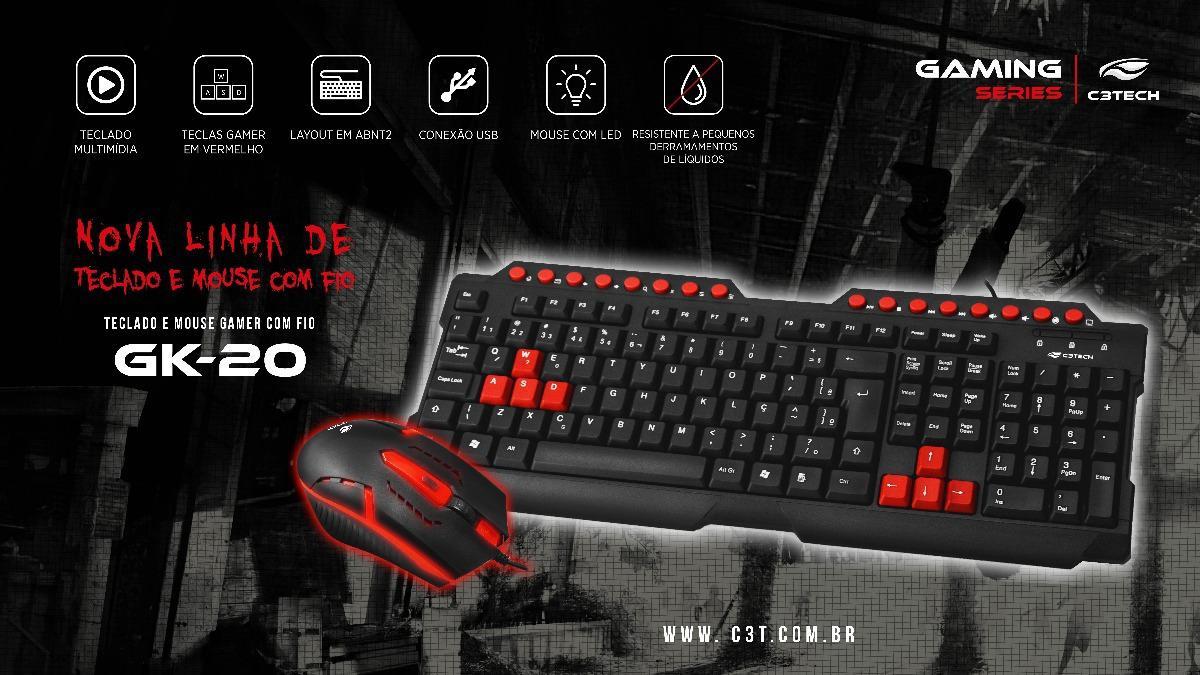 Kit Teclado E Mouse Gammer