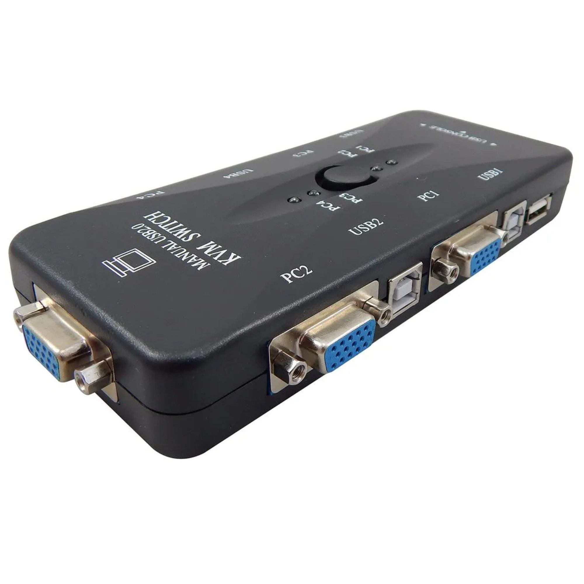 Chaveador Kvm Usb Switch 4 Portas Vga