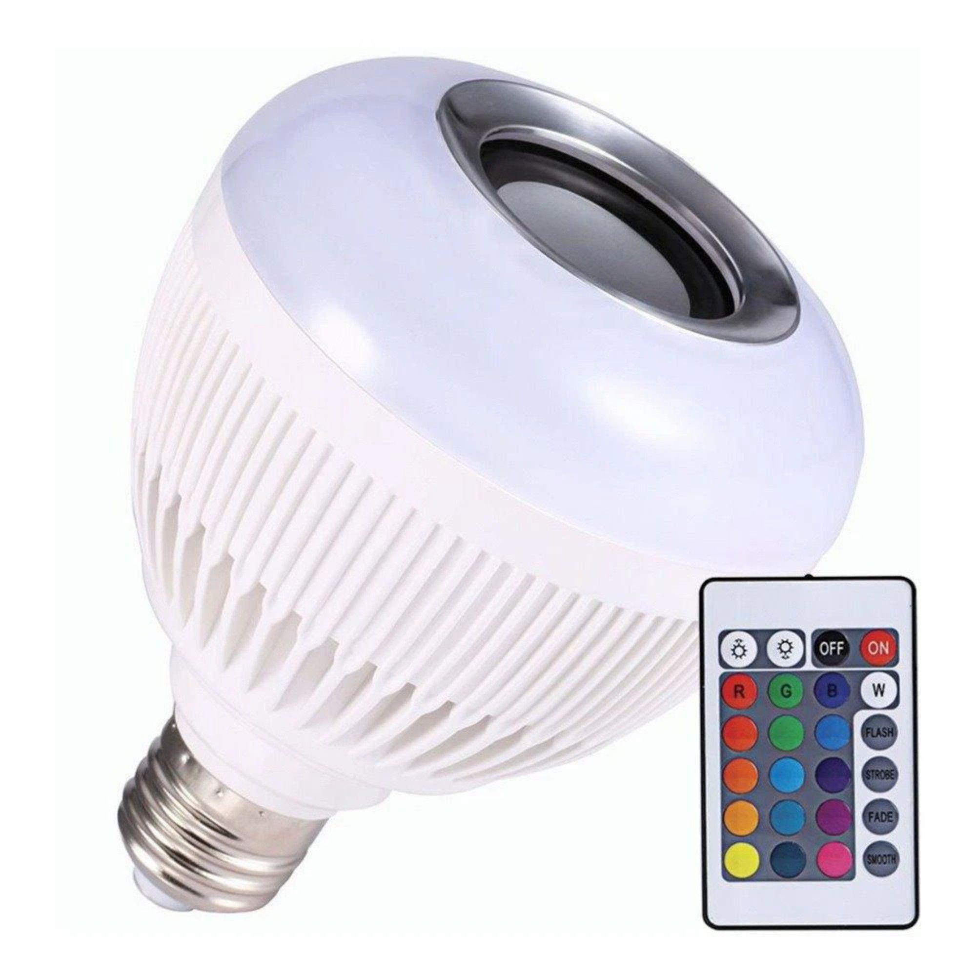 Lâmpada Luz Led Rgb Bluetooth Música Caixa Som C/ Controle