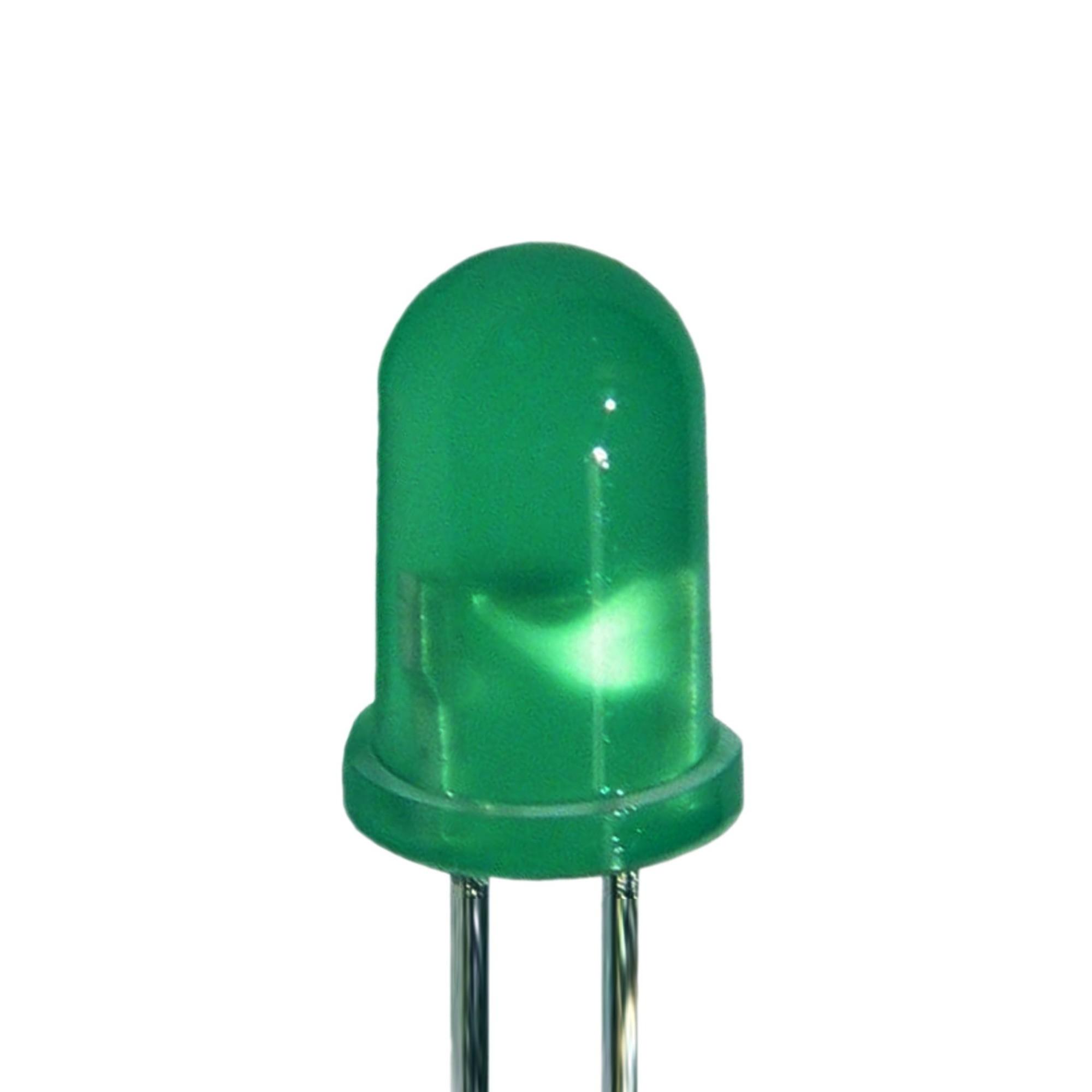 Led Verde 5mm Alto Brilho C/ 10 Unidades