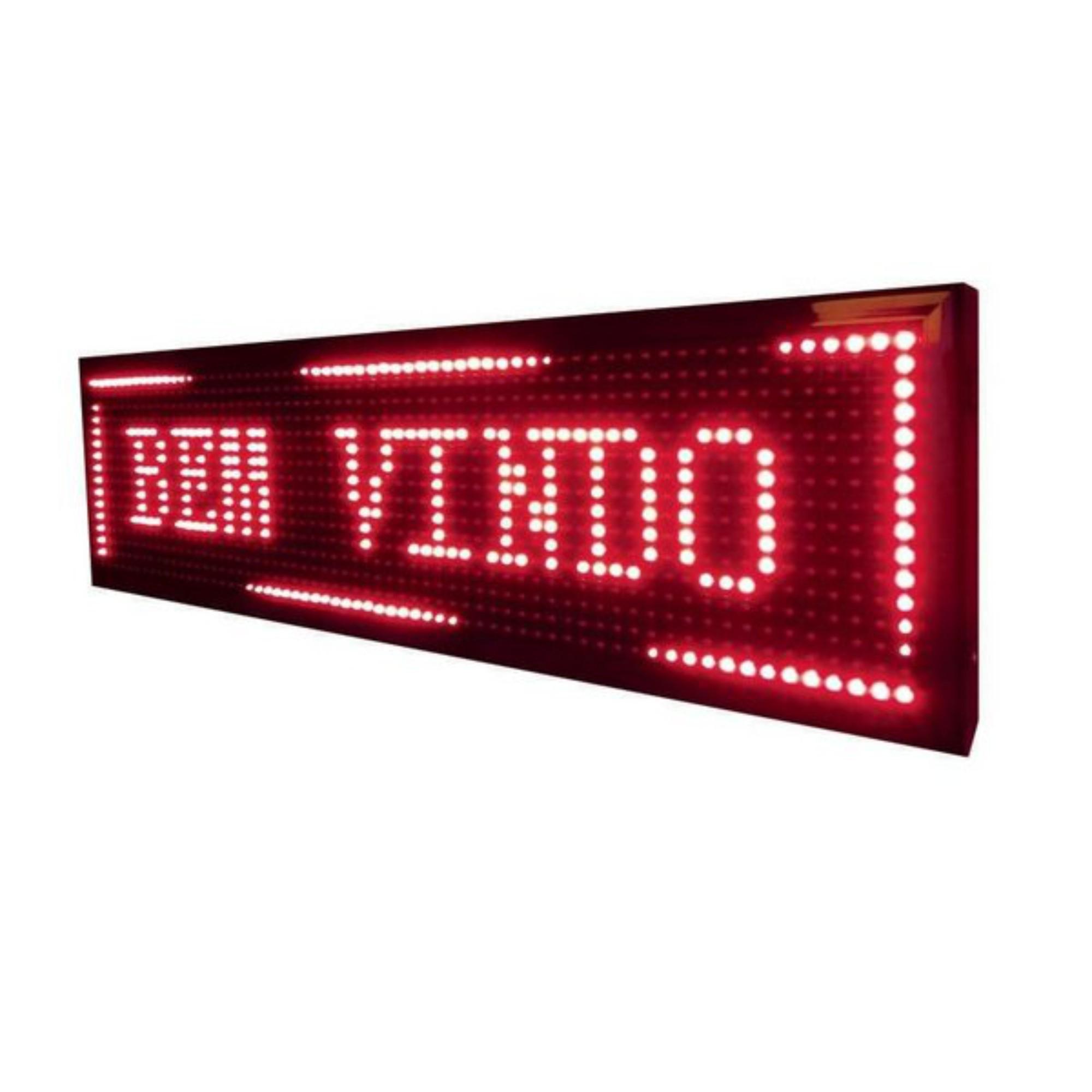 Letreiro Painel LED C/ Wifi 20cm x 1m Vermelho