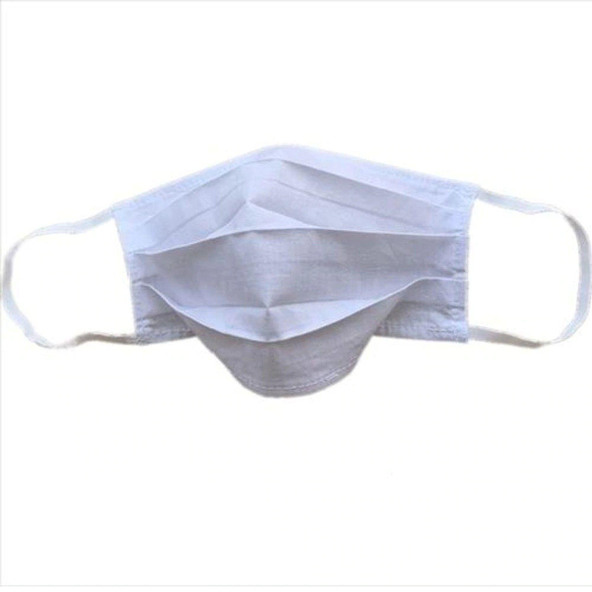 Máscara Proteção Dupla Camada Não Descartável Padrão Anvisa C/ 5 Unidades