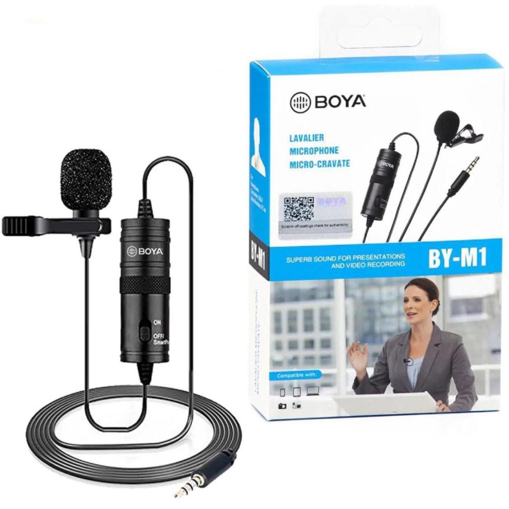 Microfone de Lapela Boya BY-M1 P/ Smartphone e Câmeras Cabo 6m