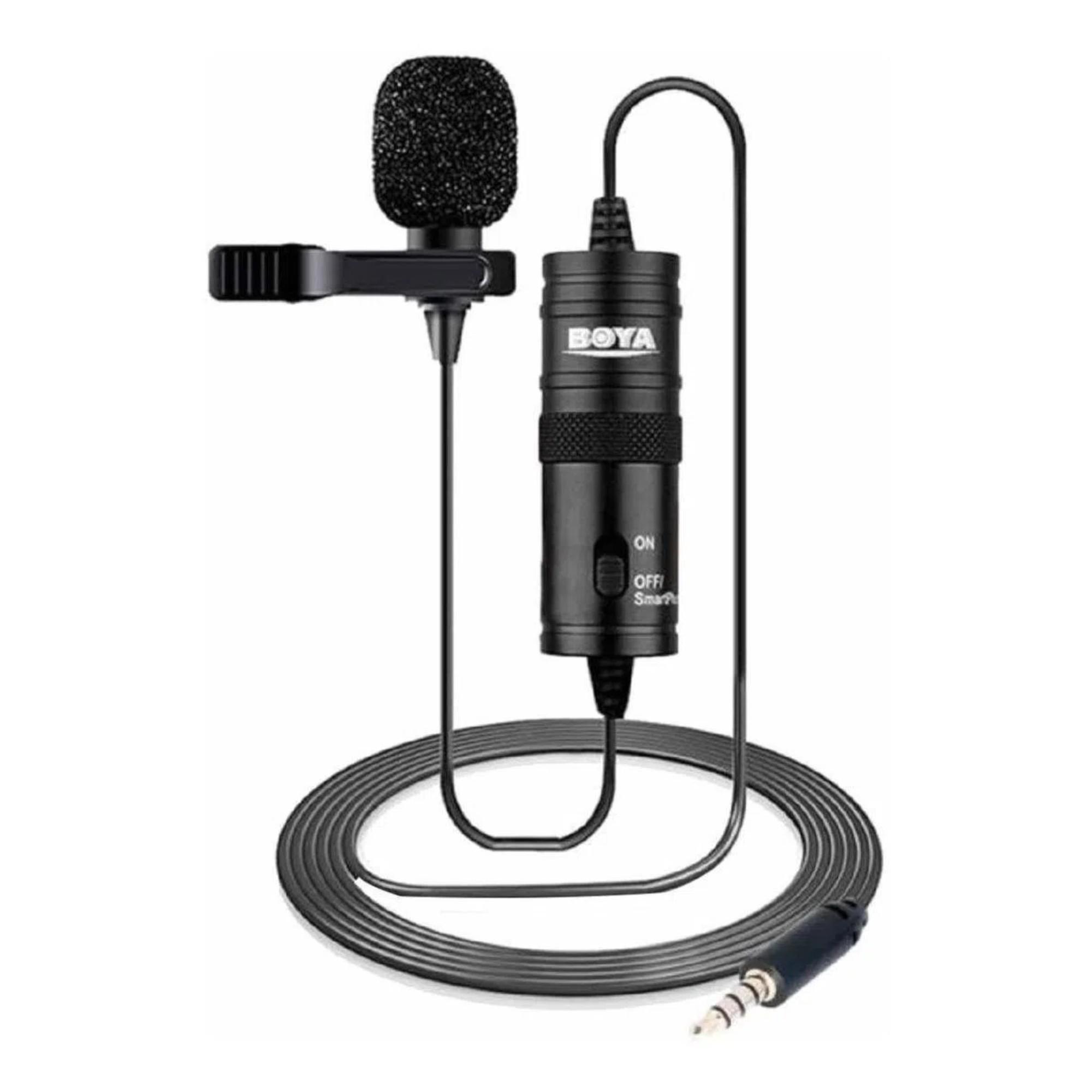 Microfone de Lapela P/ Smartphone e Câmeras Cabo 6m