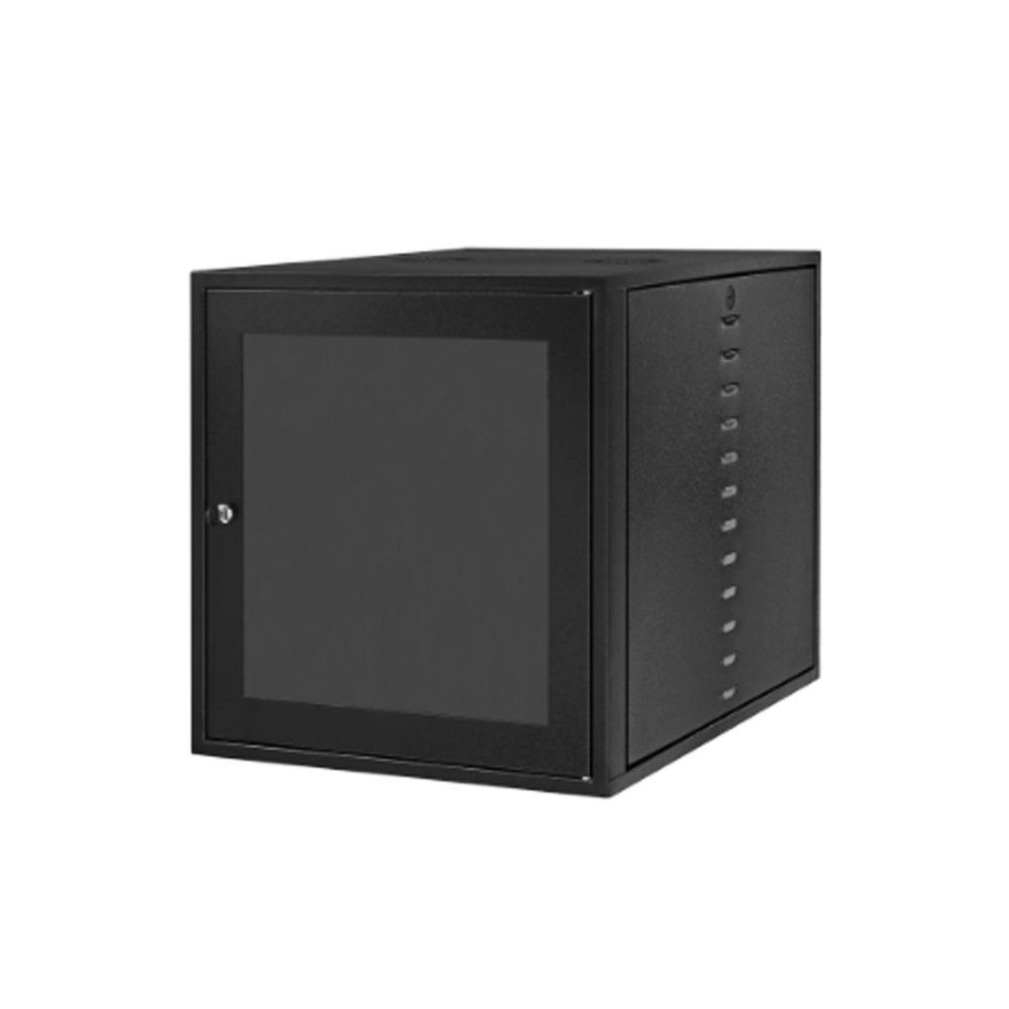 "Mini Rack 19"" 12u 400mm Porta Acrílica Com Fechadura"