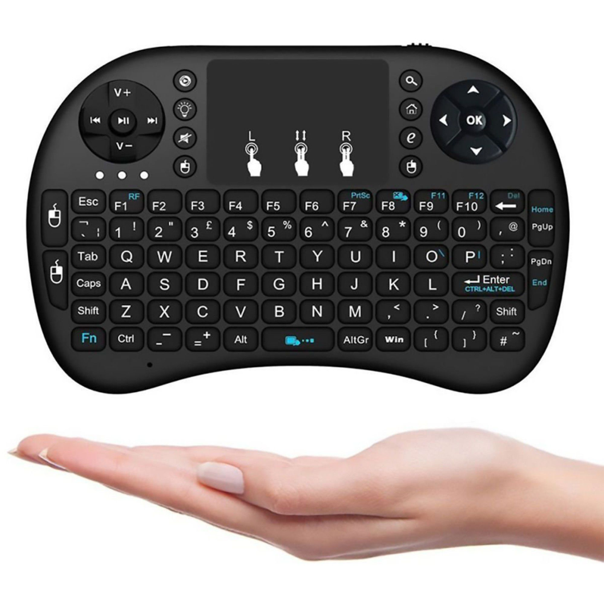 Mini Teclado Keyboard Iluminado Recarregável Wireless P/ Tv Box Smart TV Notebook