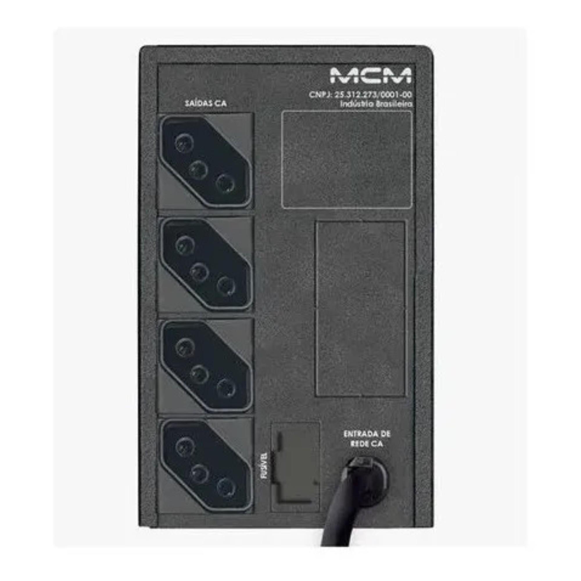 Nobreak MCM UPS 600VA 1.1 ONE Monovolt 127v