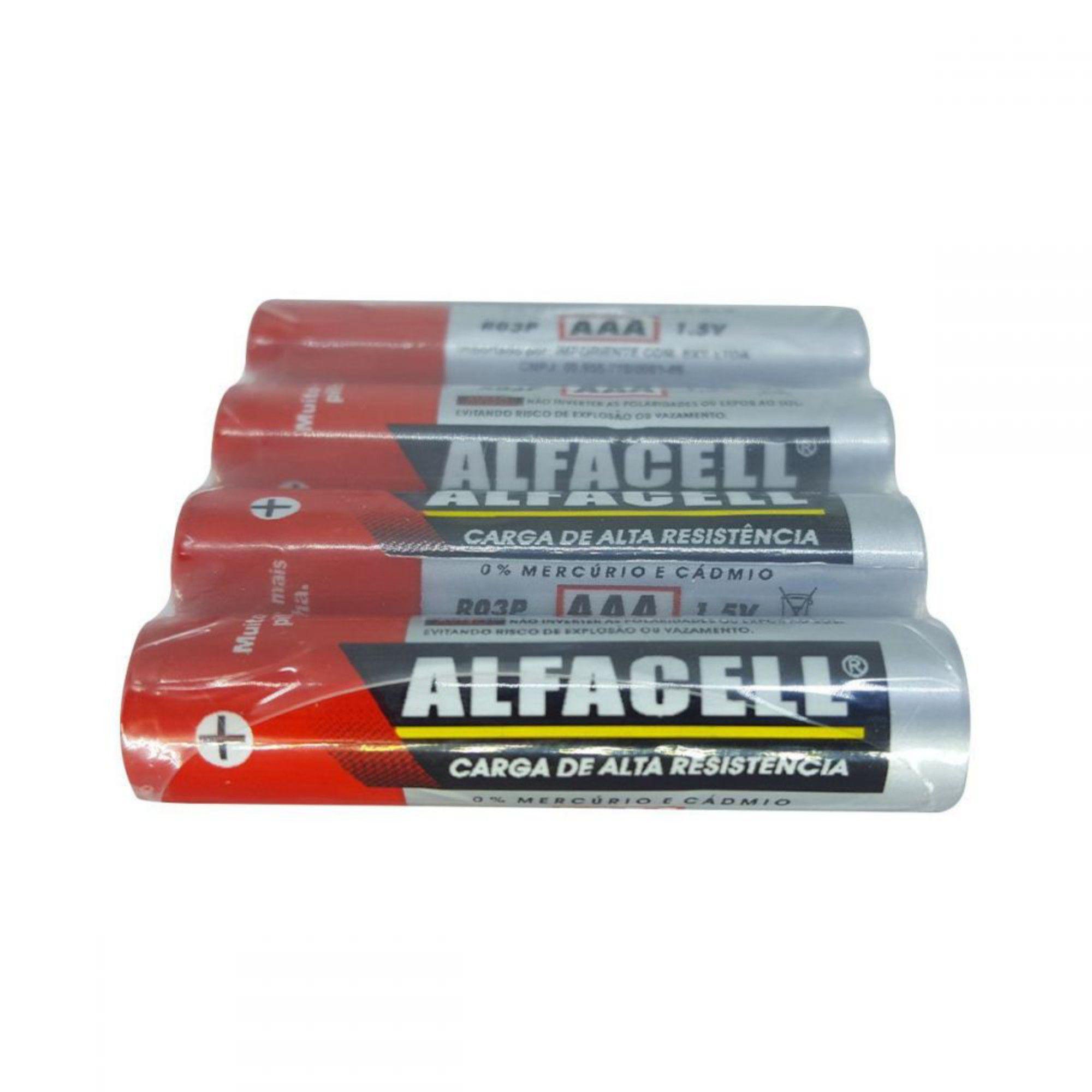 Pilha AAA Alfacel C/ 4 Unidades
