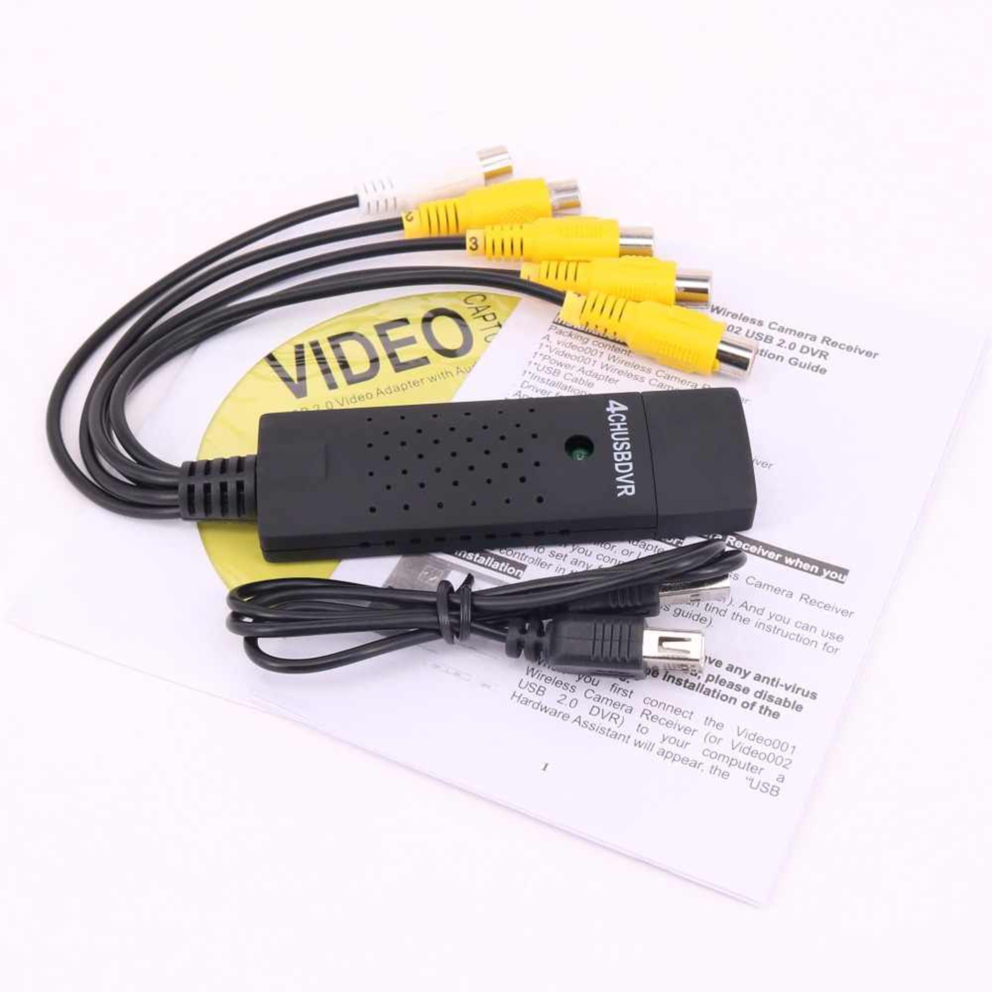 Placa De Captura de Vídeo USB 2.0 4 Canais