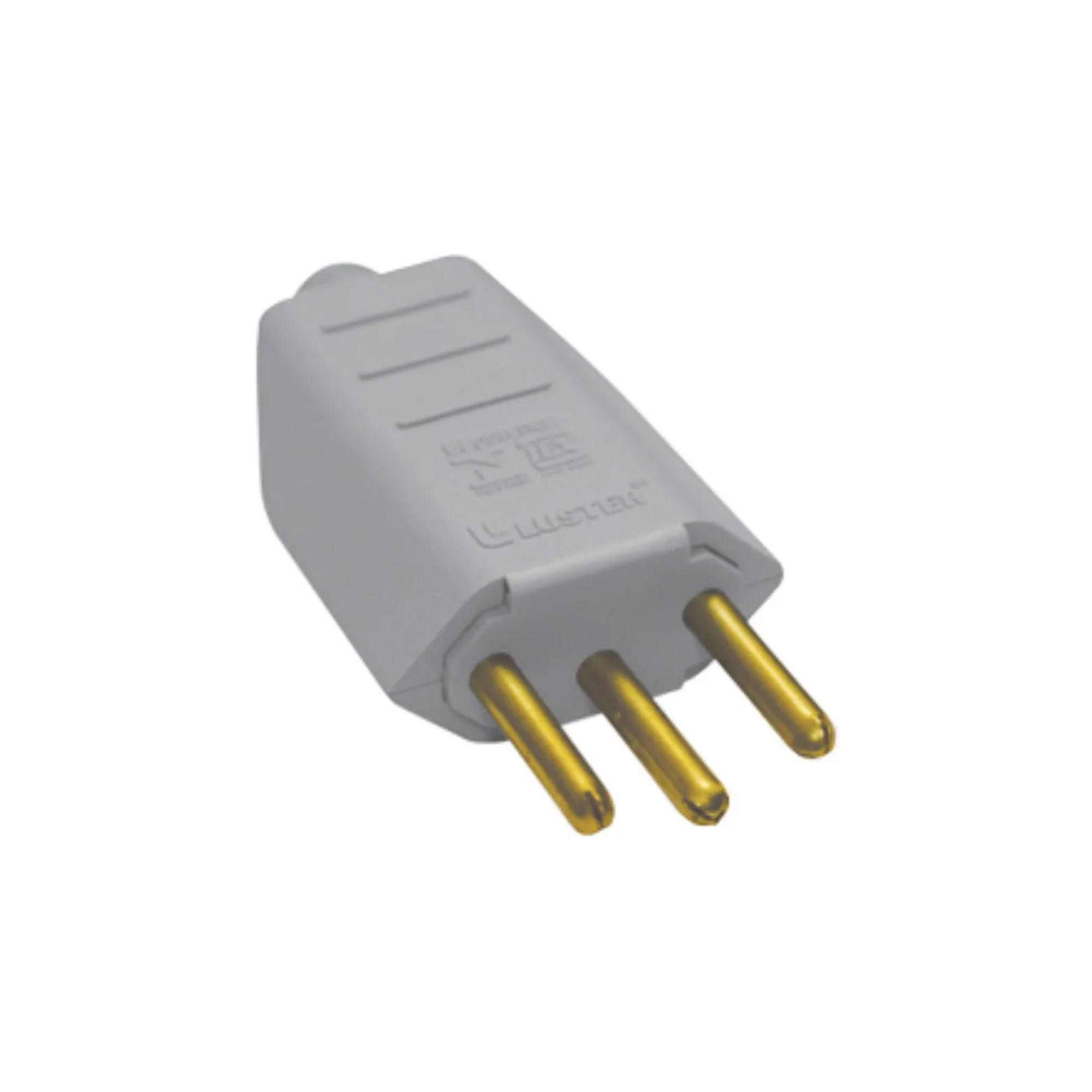 Plug Pino de Tomada Macho 10 Amperes
