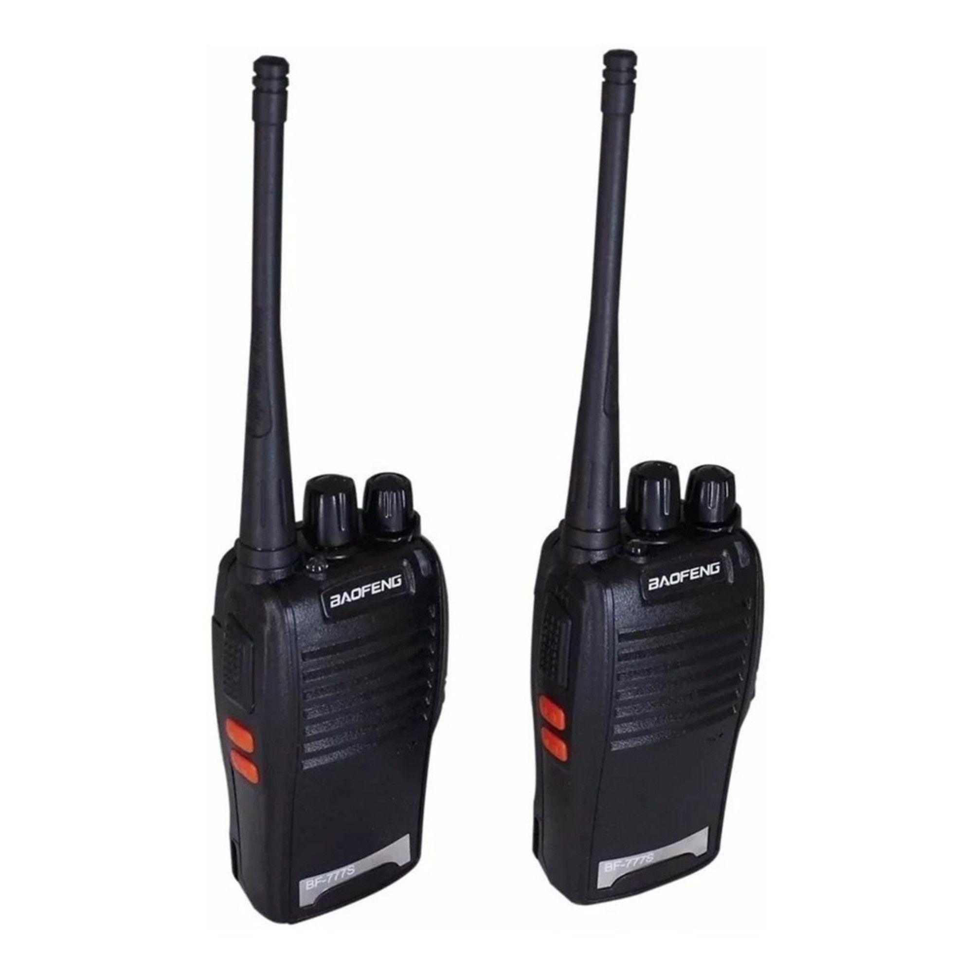 Kit 2 Radio Comunicador Baofeng 777s Profissional Ht Uhf 16 Canais