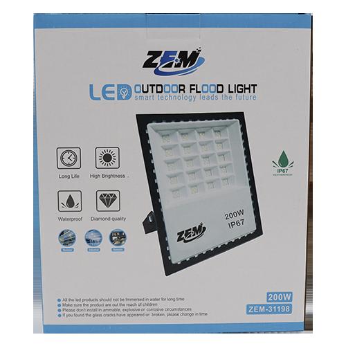 Refletor Led 200w Holofote Branco Frio Bivolt Prova D'água