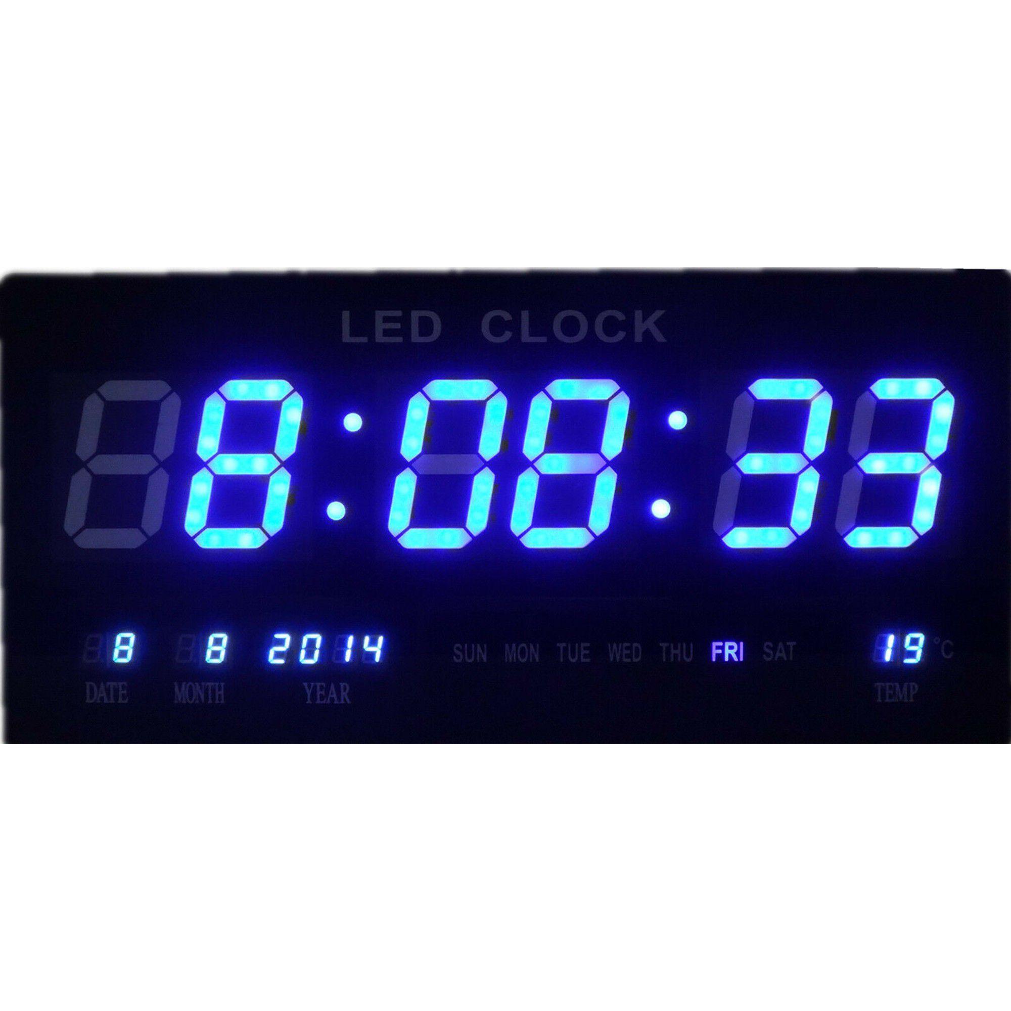 Relógio De Parede Led Digital Grande