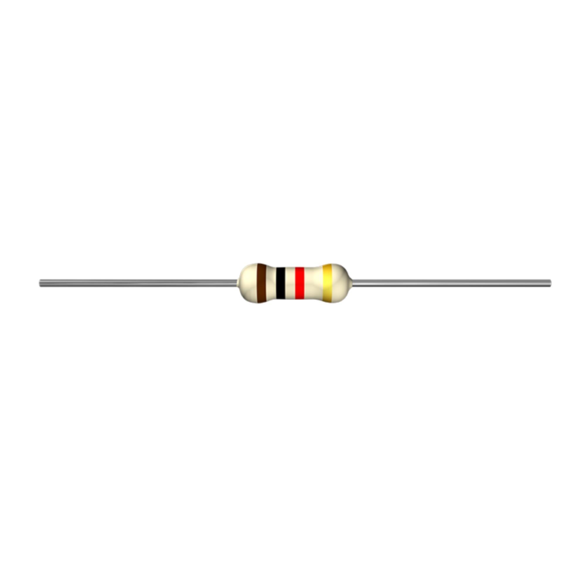 Resistor 2k CR25 1/4W 5% C/ 10 Unidades
