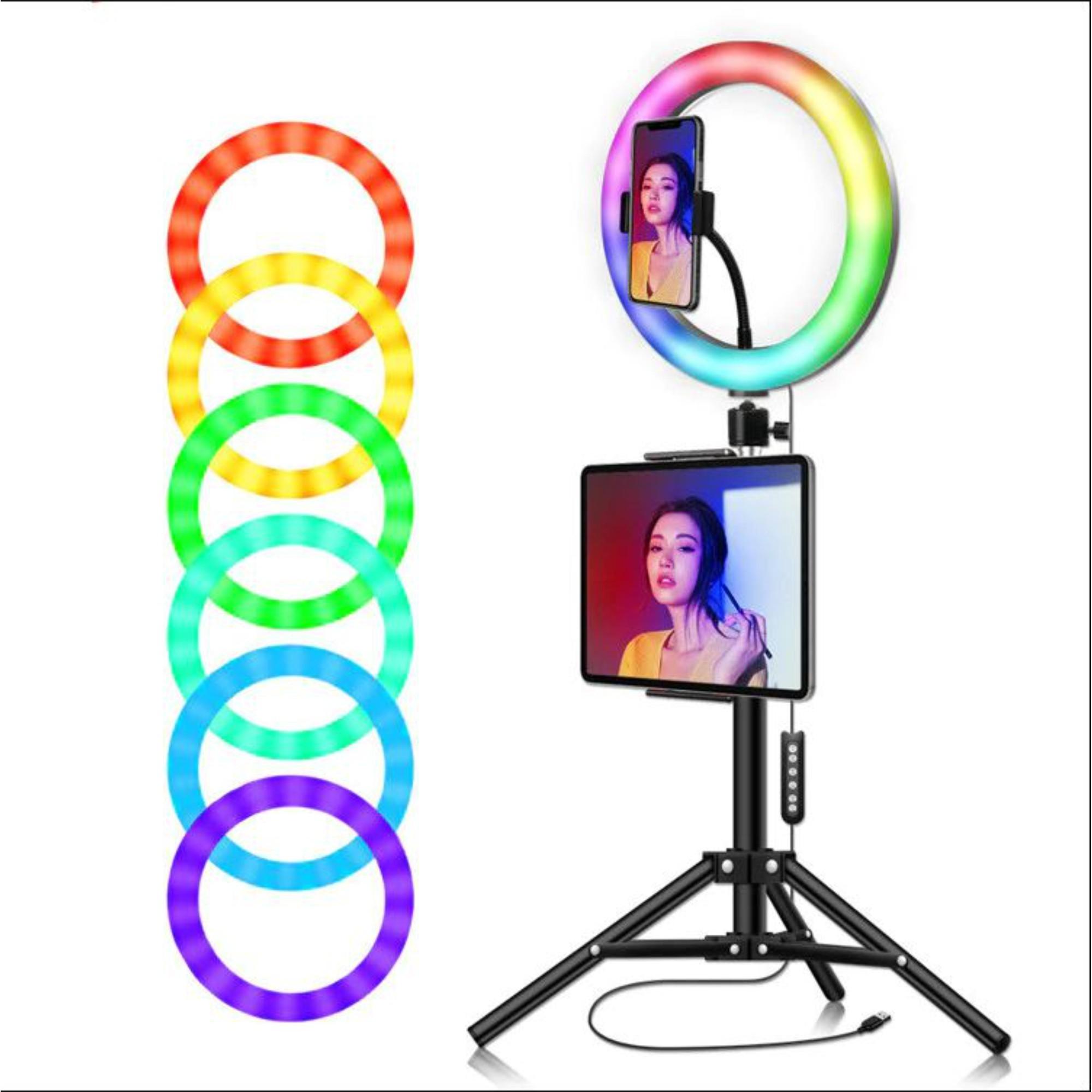 Ring Light RGB Colorida 26 Centimetros Led + Tripé
