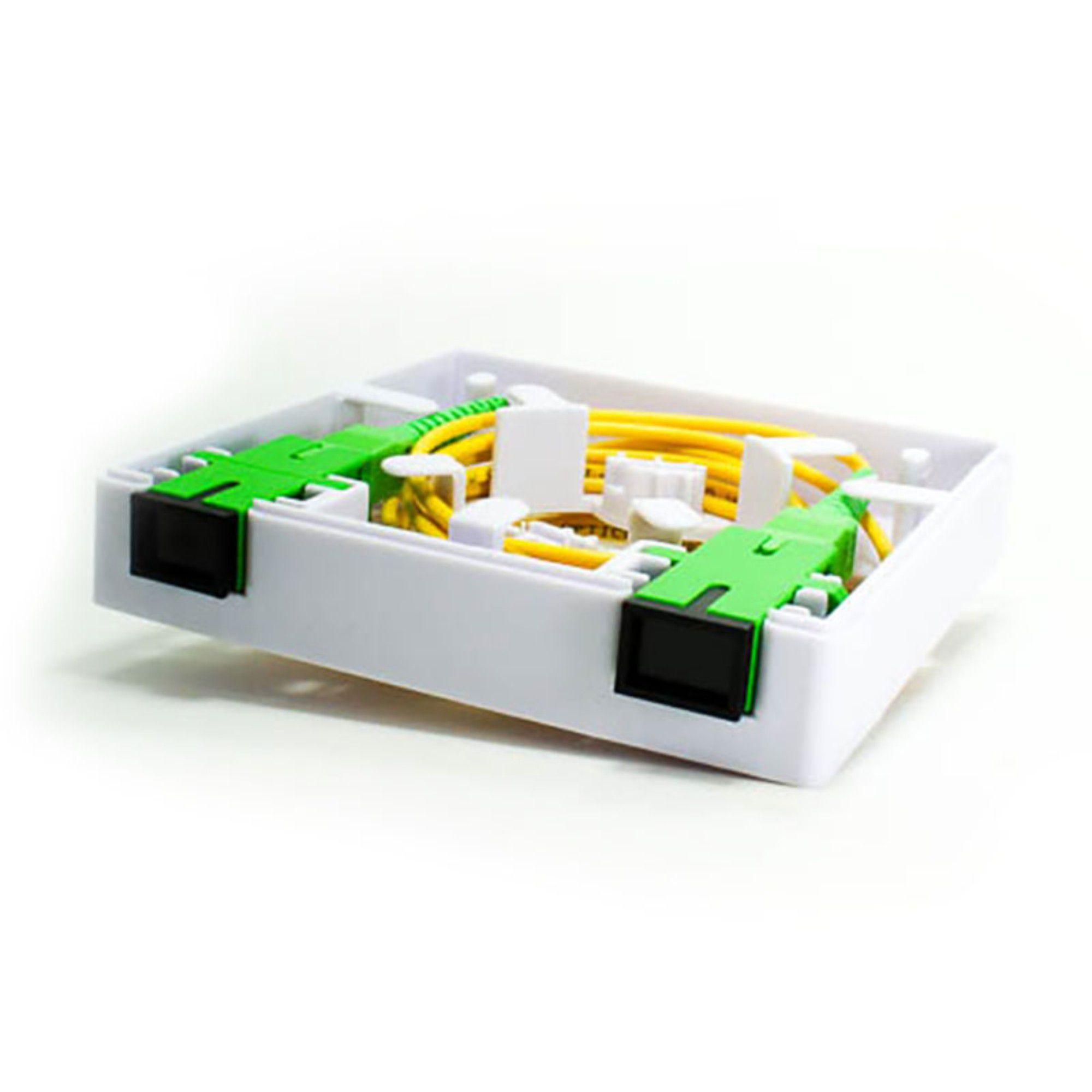 Caixa de Terminação Roseta Fibra Óptica 2Flex C/ 2 Unidades