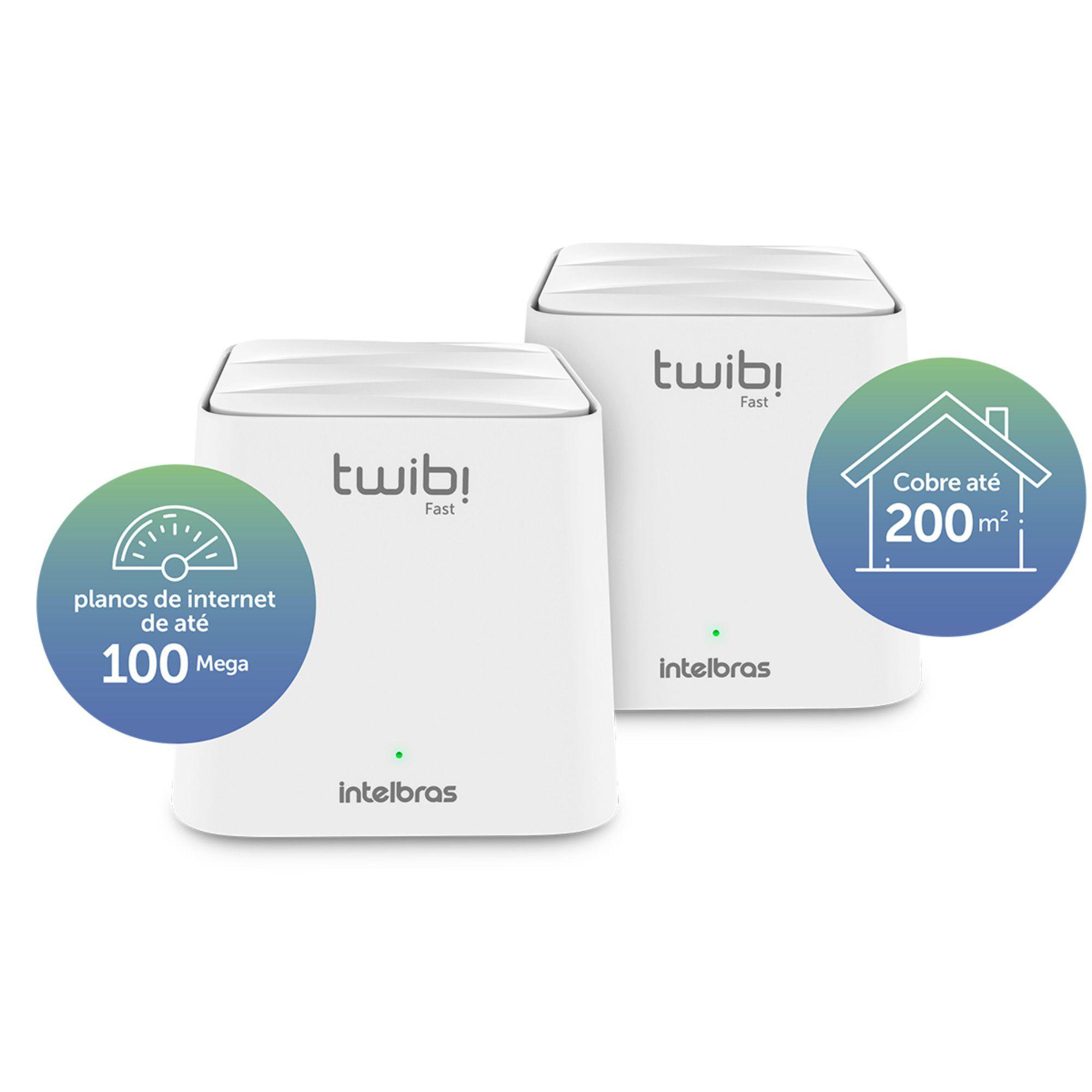 Roteador Intelbras Twibi Wifi Mesh Fast Kit C/ 2 Unidades