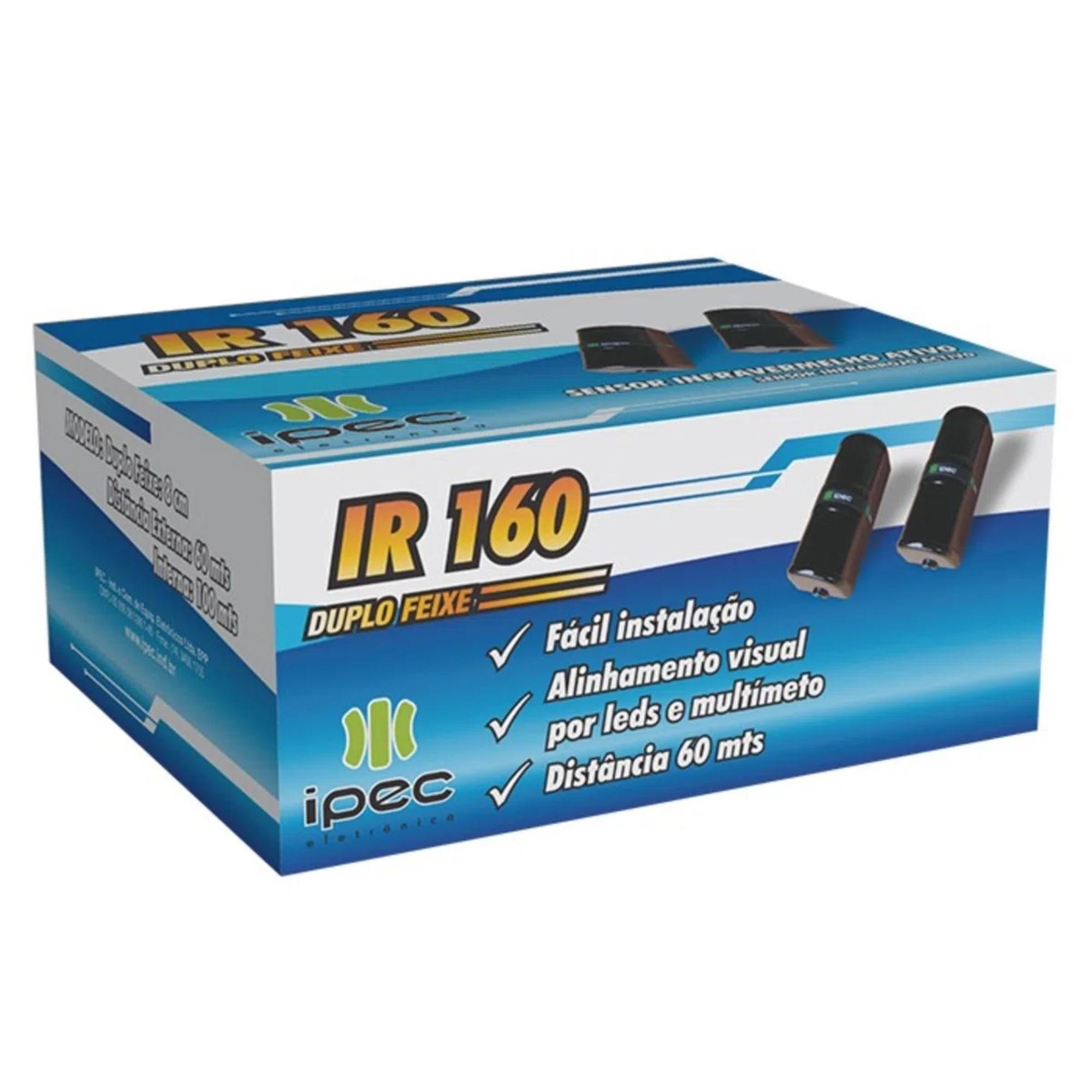 Sensor De Barreira Ativo Ipec Ir 160 Feixe Duplo 60 Metros