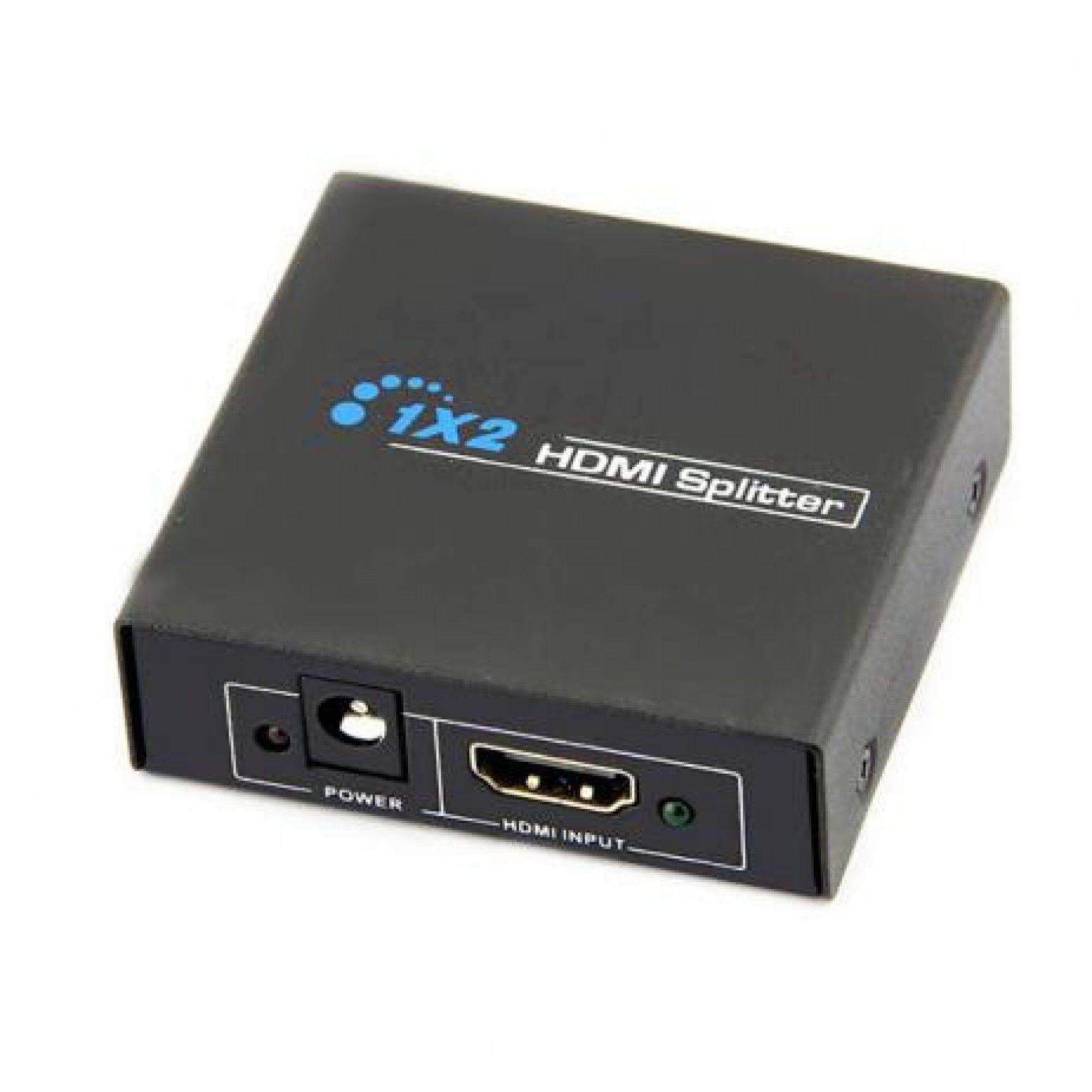 Splitter HDMI 1 Entrada x 2 Saídas 3D 4k Full HD 1080p