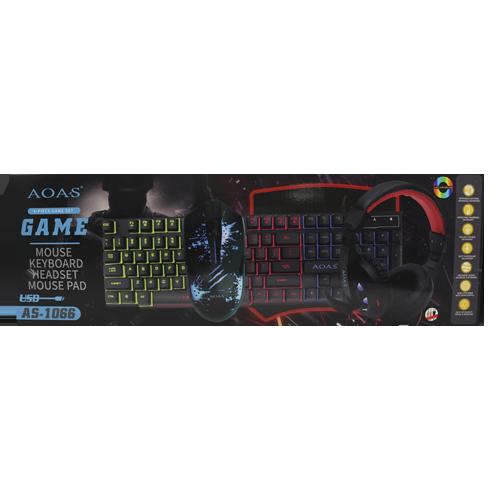 Super Kit Teclado Semi Mecânico Gamer + Mouse 2400dpi + Headset + Mouse Pad