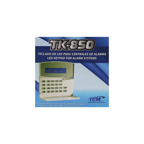 Teclado De Led Para Centrais De Alarme TEM TK-850