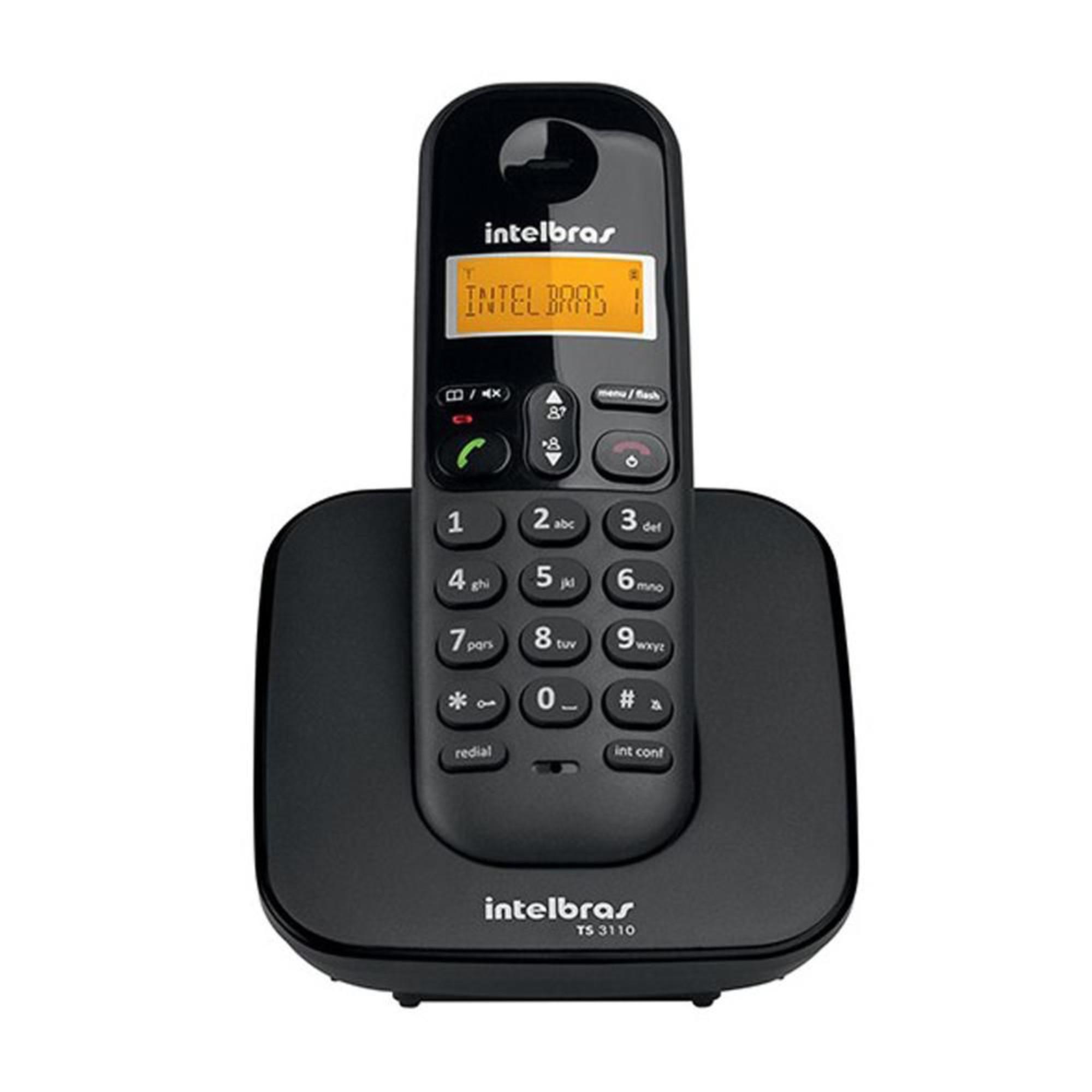 Telefone Sem Fio Intelbras TIS 3110 Preto
