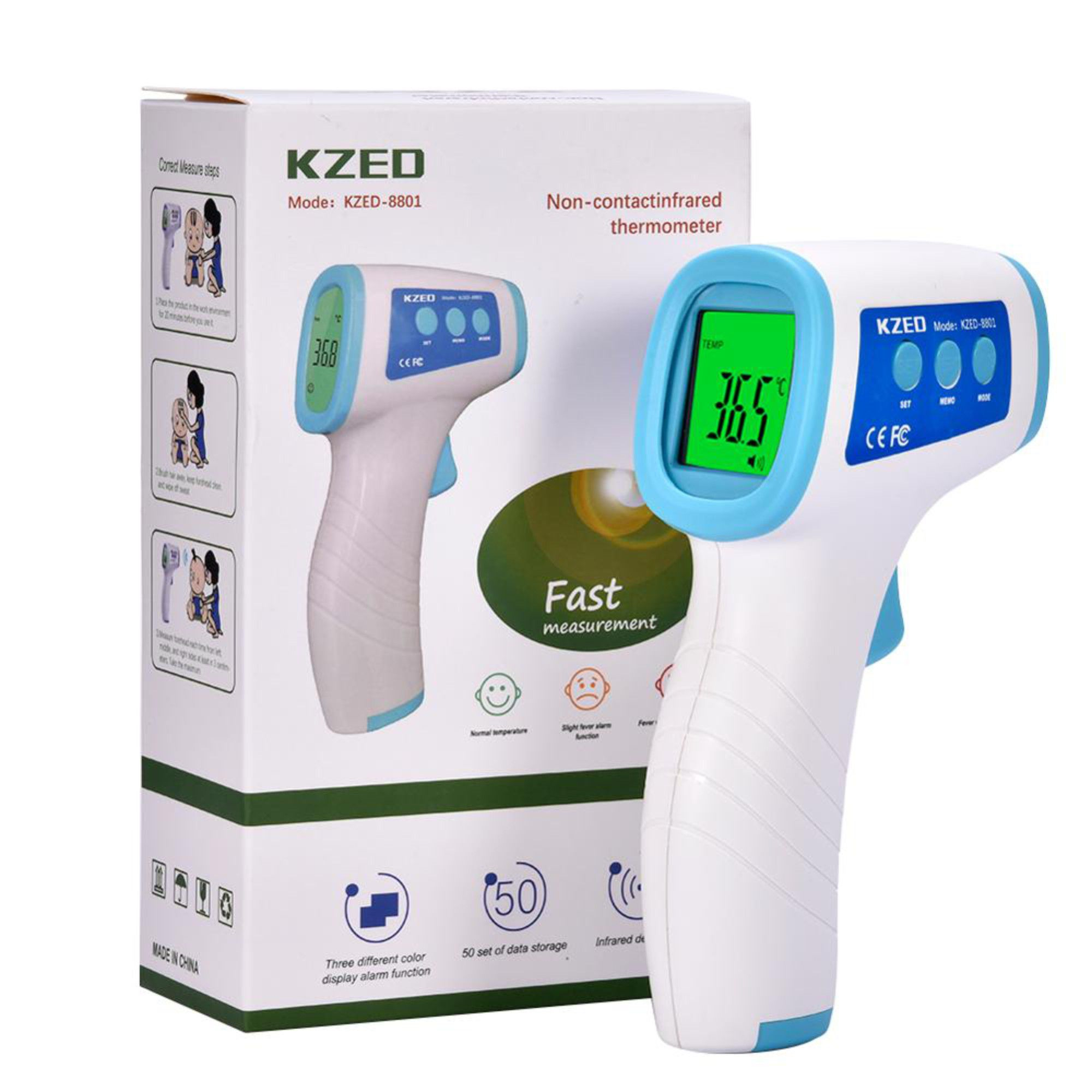 Termômetro Digital Febre Testa Sem Contato