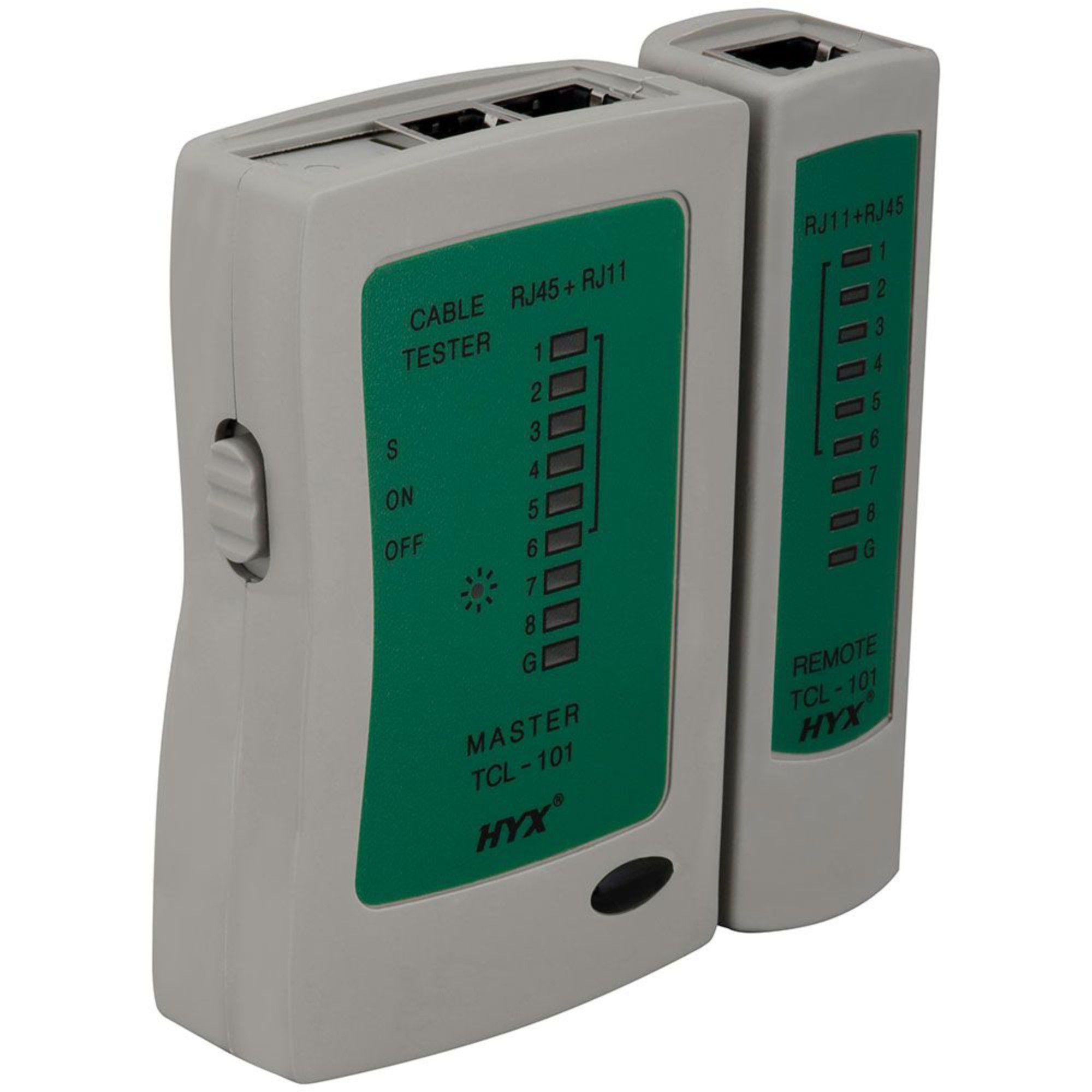 Testador de Cabos de Redes e Telefonia RJ45/RJ11